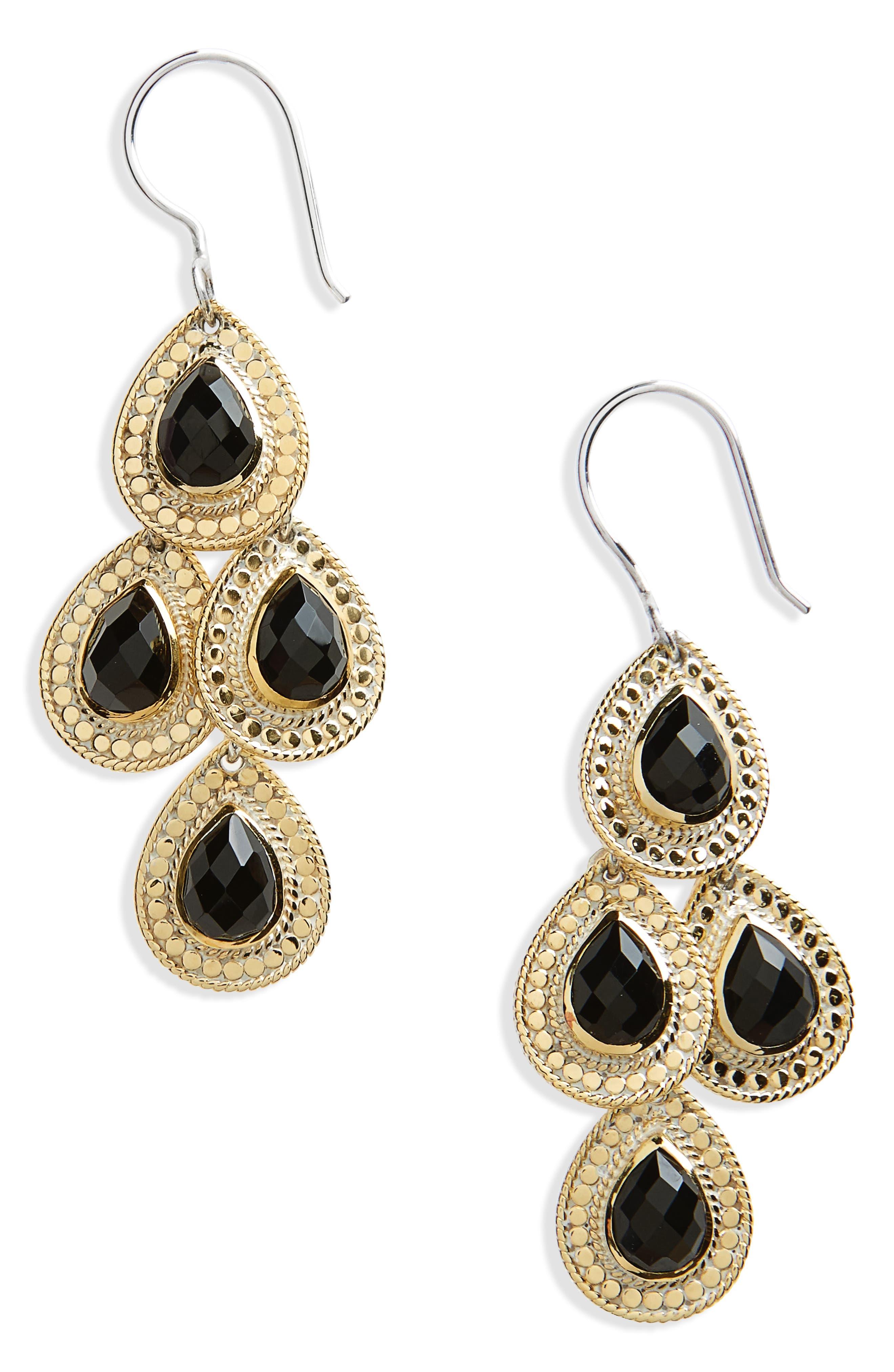 Stone Chandelier Earrings,                         Main,                         color, 020