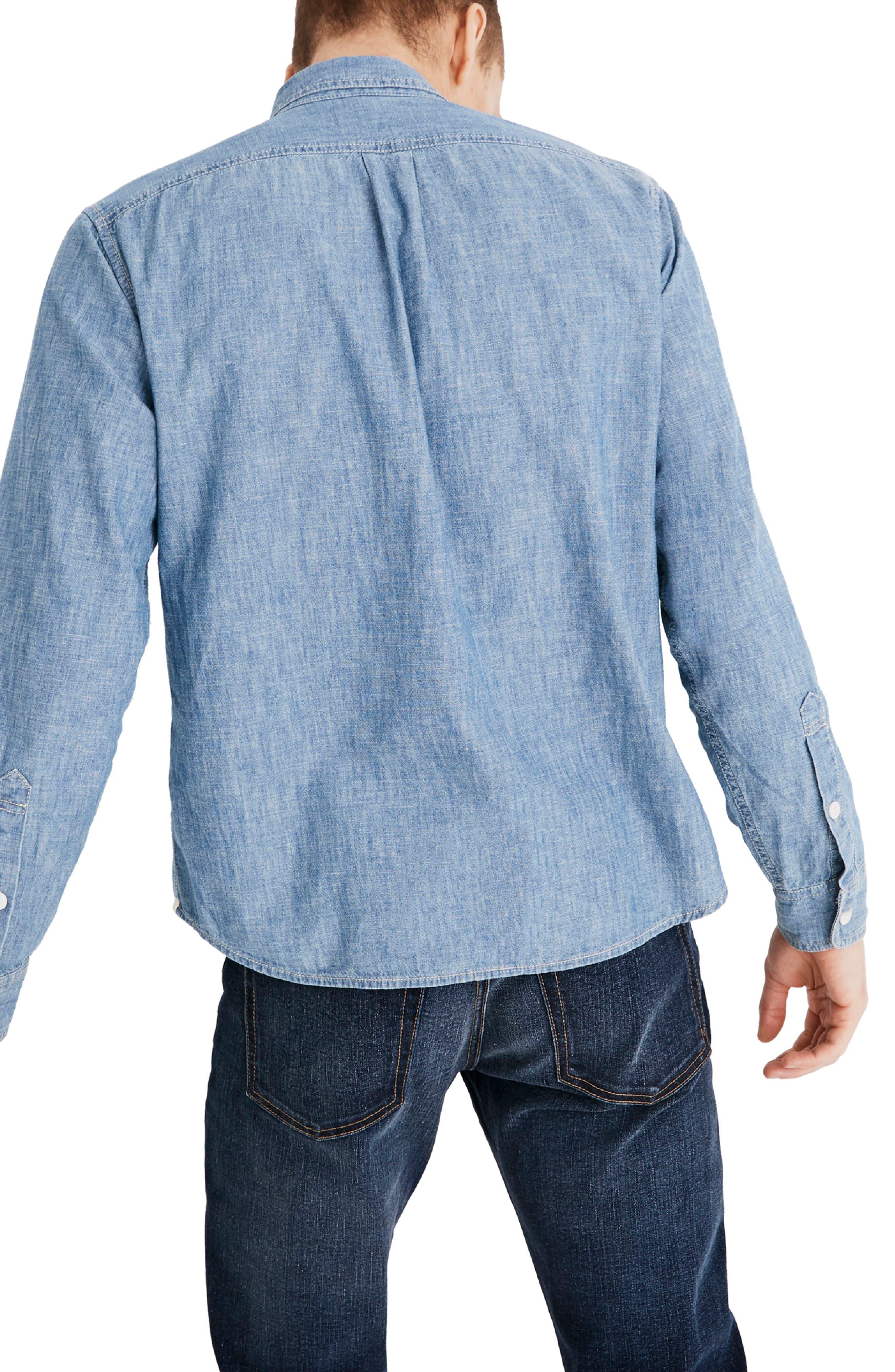 Classic Button Down Shirt,                             Alternate thumbnail 2, color,                             LESSING WASH