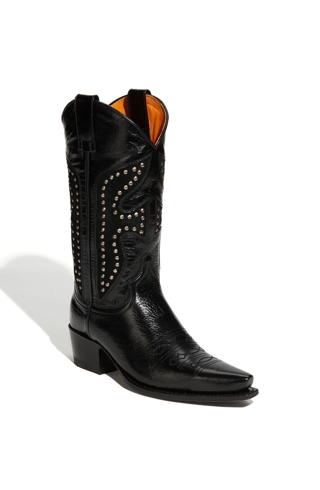 FRYE 'Daisy Duke' Studded Boot, Main, color, 001