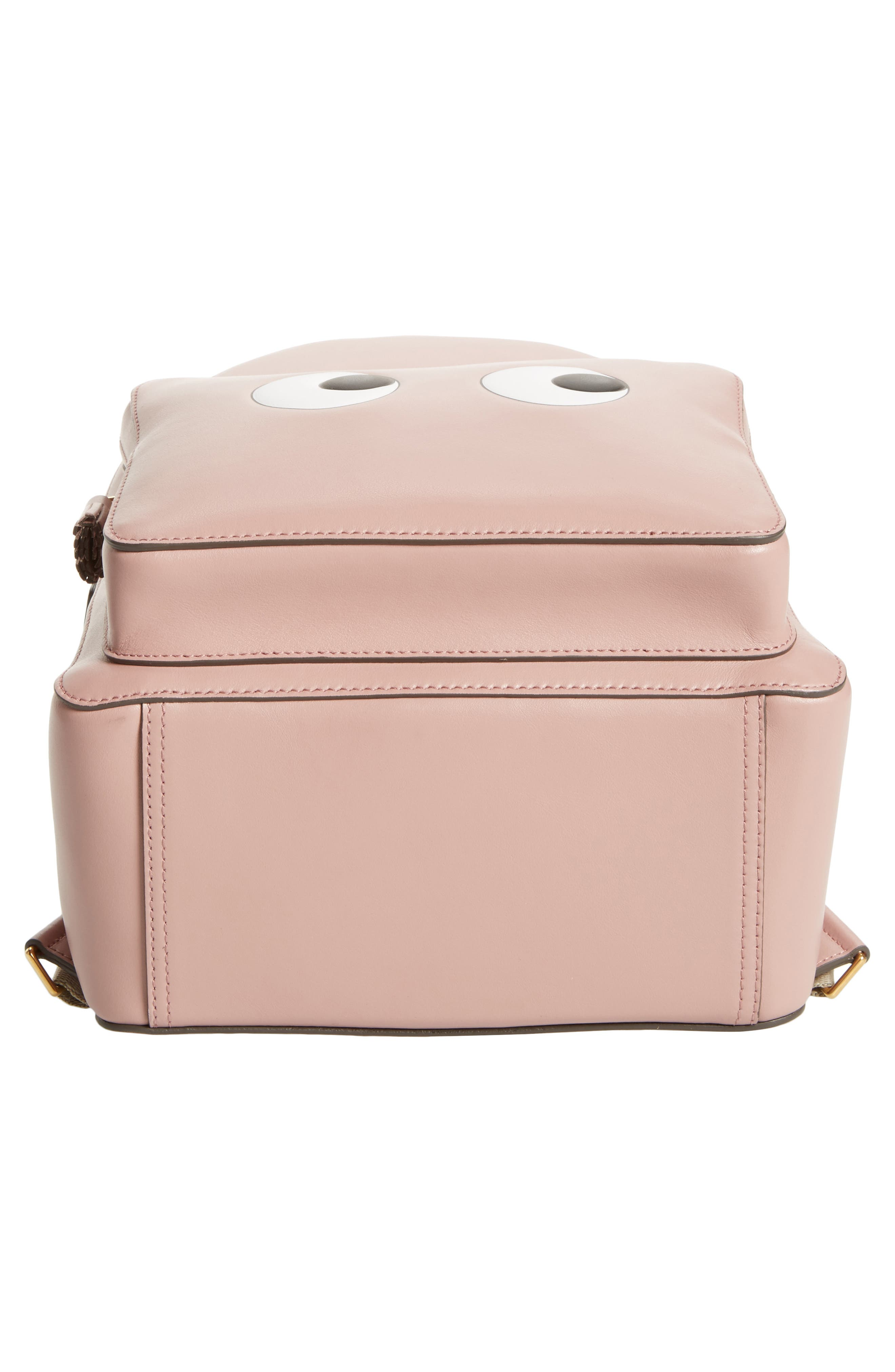 ANYA HINDMARCH,                             Eyes Mini Leather Backpack,                             Alternate thumbnail 6, color,                             650