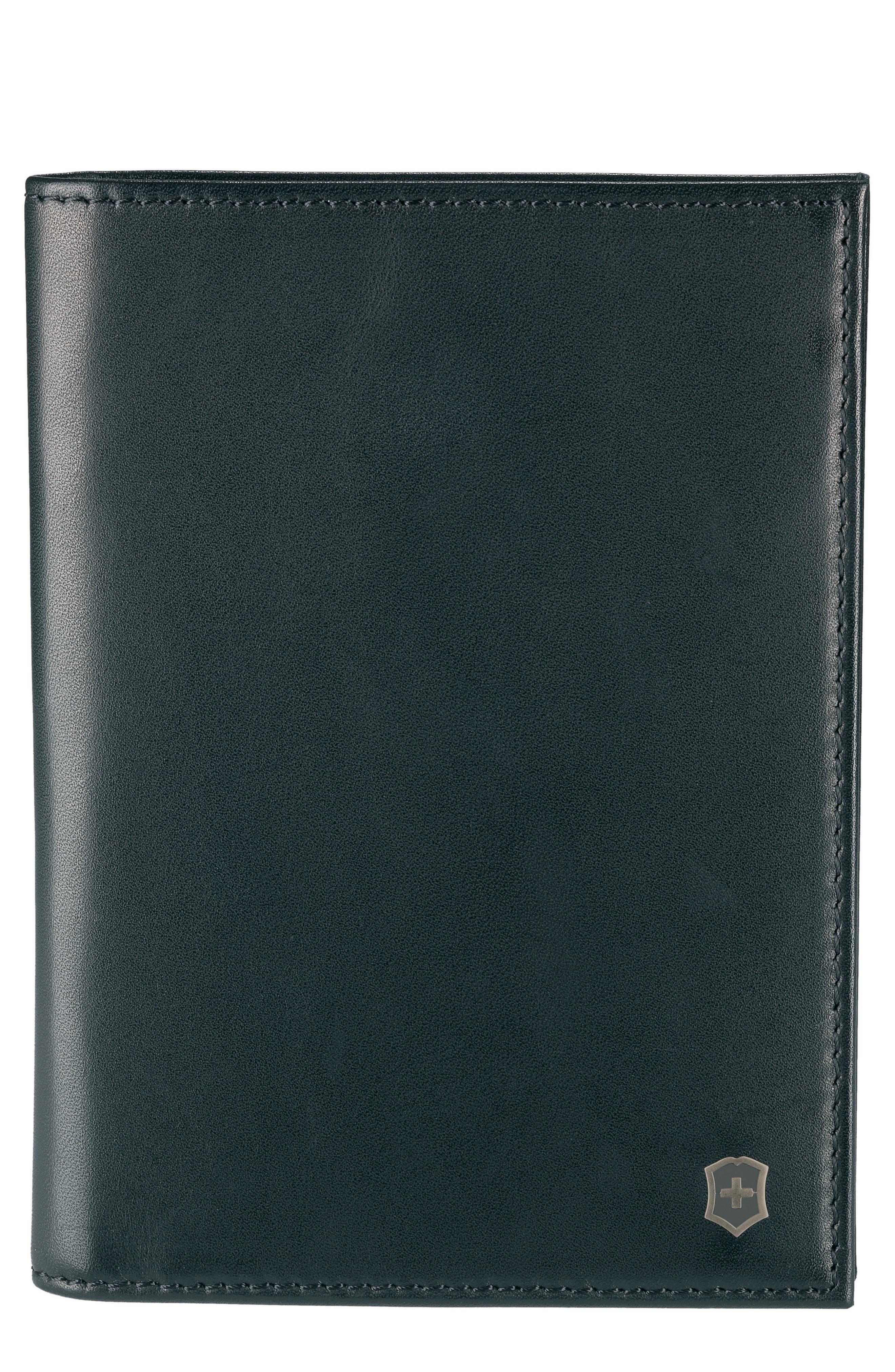 Altius Edge Leibnitz Travel Wallet,                             Main thumbnail 1, color,                             BLACK