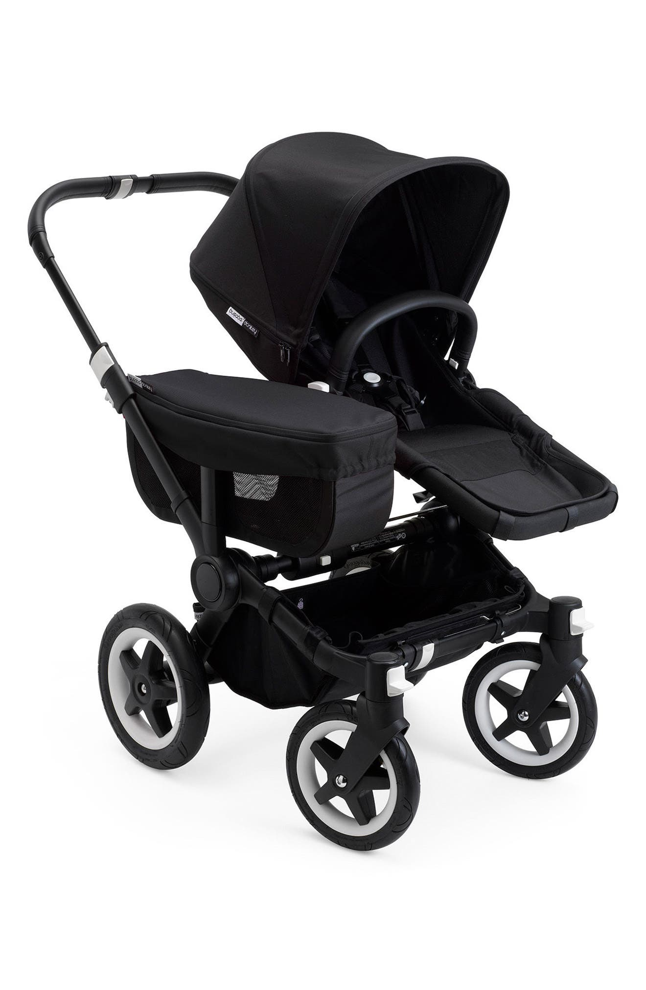 Donkey2 Mono Complete Stroller with Bassinet,                             Alternate thumbnail 2, color,                             BLACK