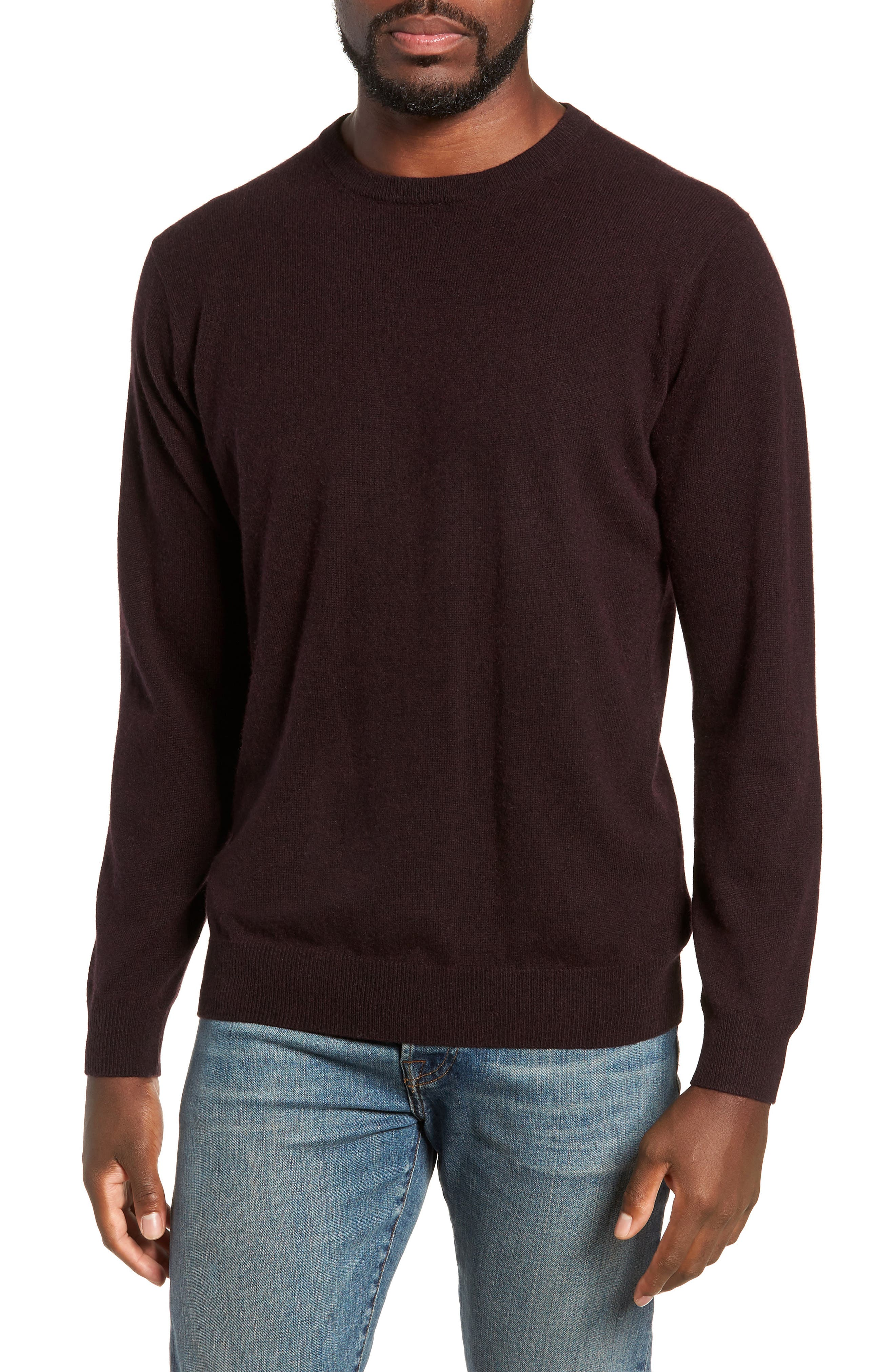 Queenstown Wool & Cashmere Sweater,                         Main,                         color, BLACK FIG