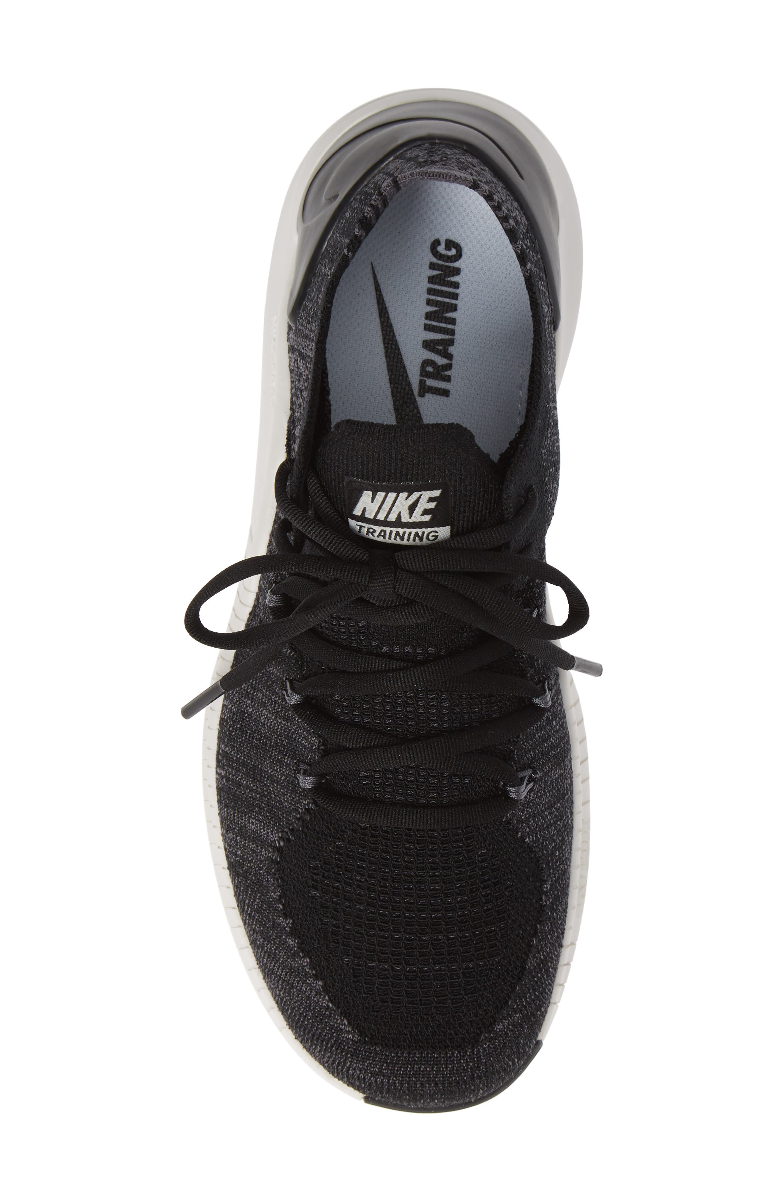 Free TR Flyknit 3 Training Shoe,                             Alternate thumbnail 5, color,                             BLACK/ DARK GREY-PHANTOM