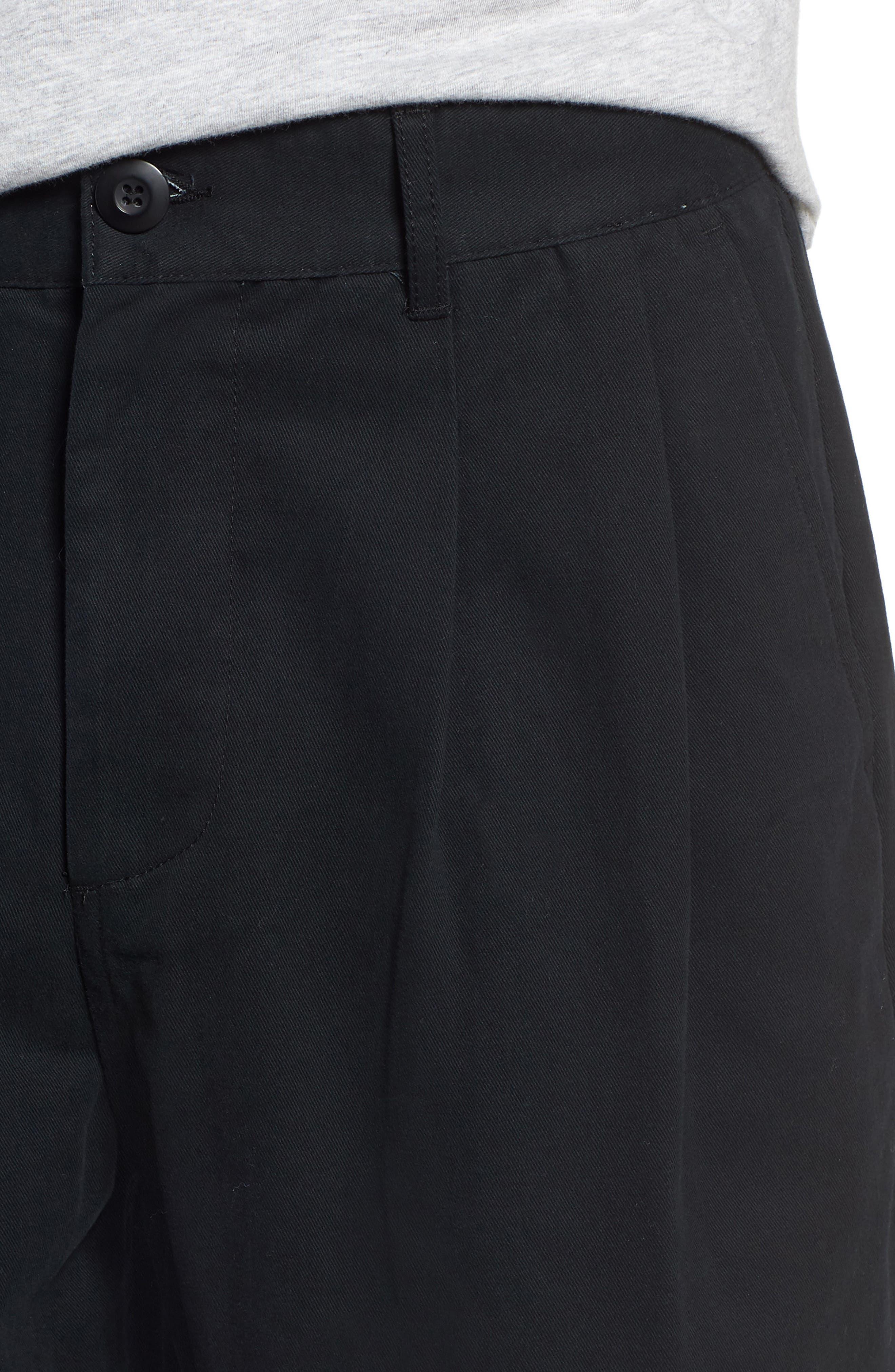 Fubar Pleated Relaxed Fit Pants,                             Alternate thumbnail 4, color,                             BLACK