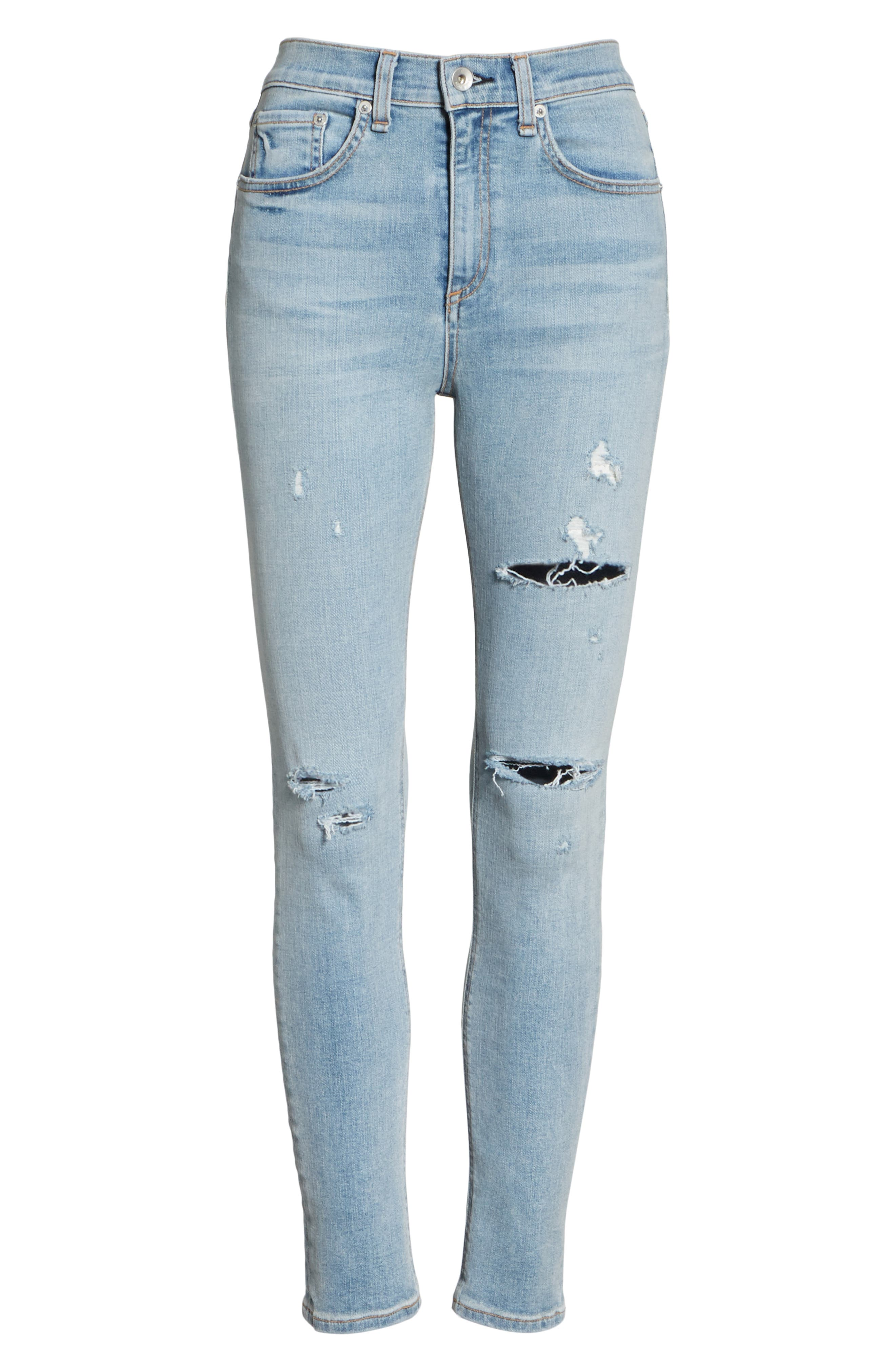 High Waist Ankle Skinny Jeans,                             Alternate thumbnail 6, color,                             NORLET