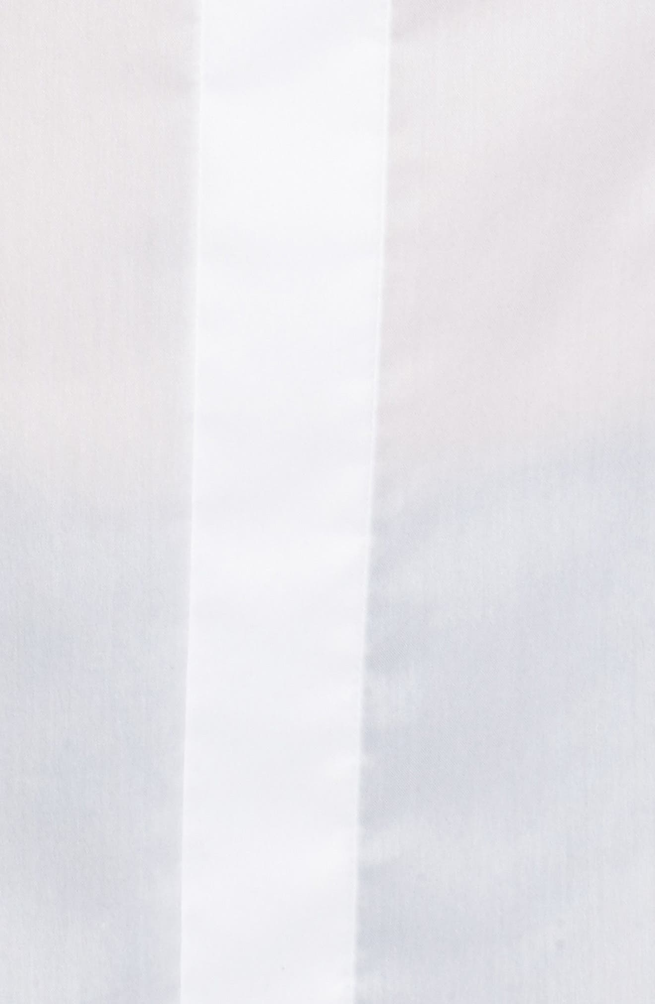 Bashini Stretch Poplin Blouse,                             Alternate thumbnail 4, color,                             100