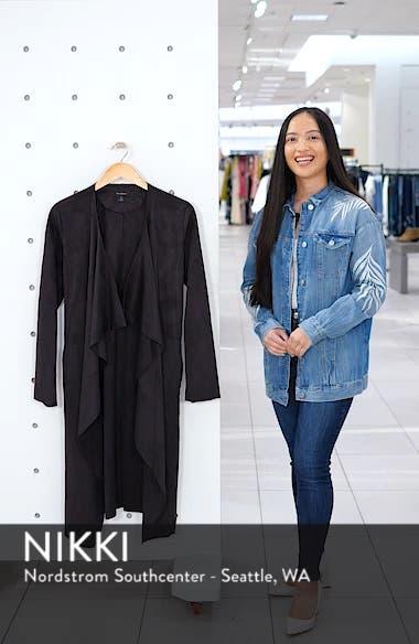 Faux Suede Front Drape Trench Coat, sales video thumbnail