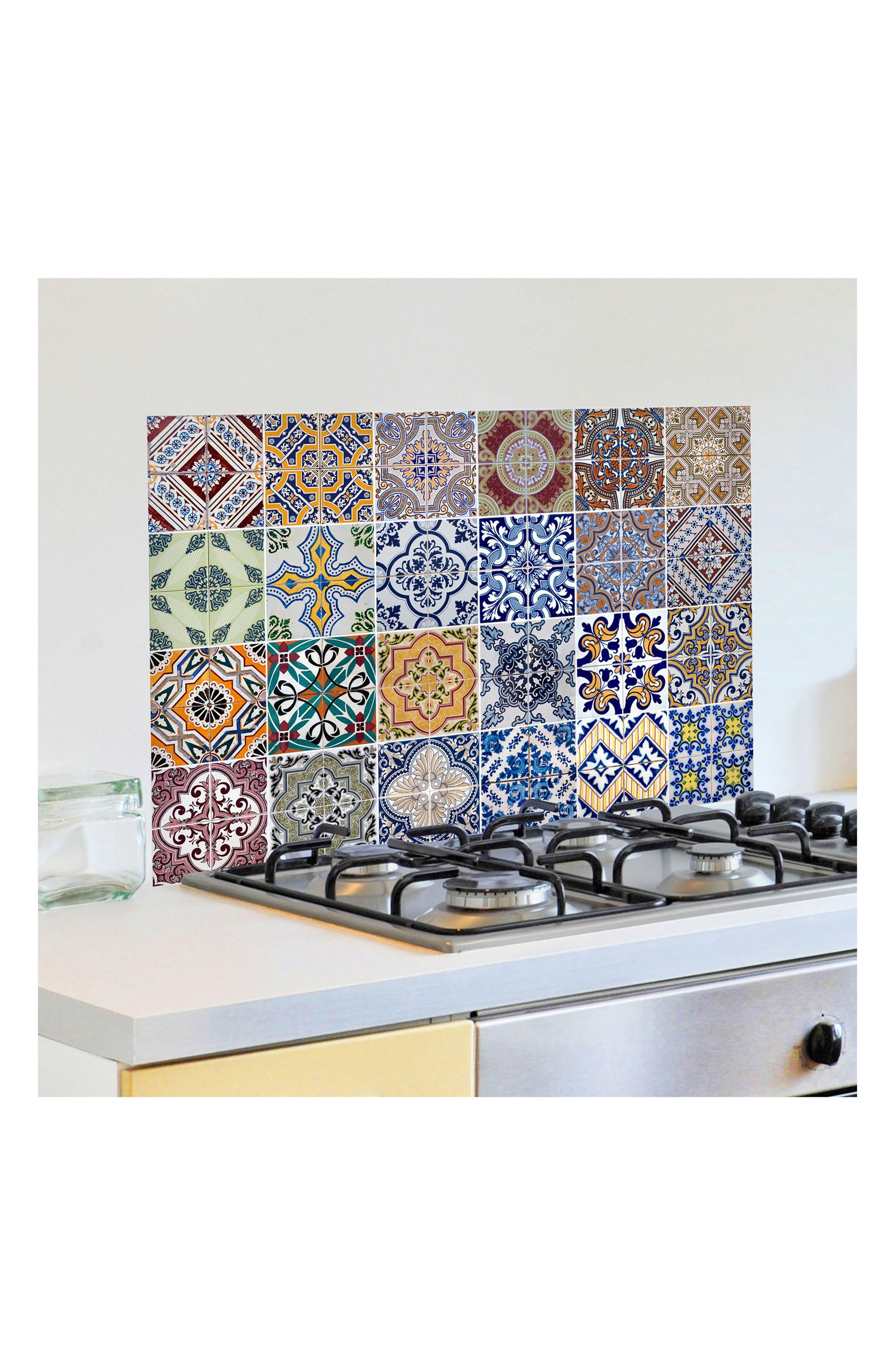 Azulejos Peel & Stick Vinyl Kitchen Panel,                             Alternate thumbnail 2, color,                             400
