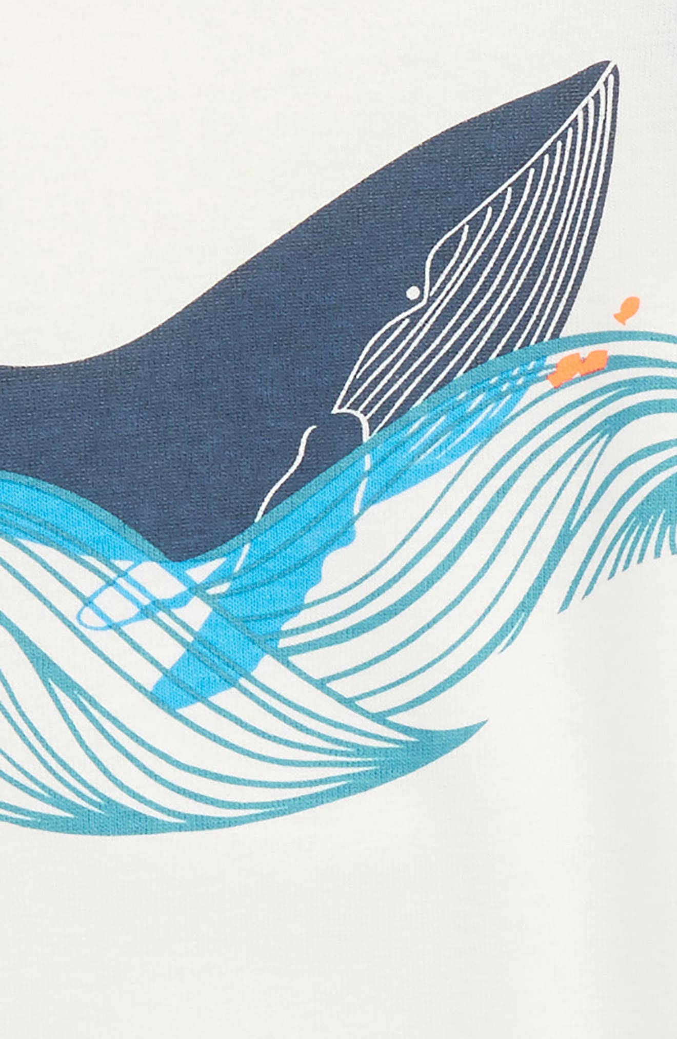 Wavy Whale Fitted Two-Piece Short Pajamas,                             Alternate thumbnail 3, color,                             400