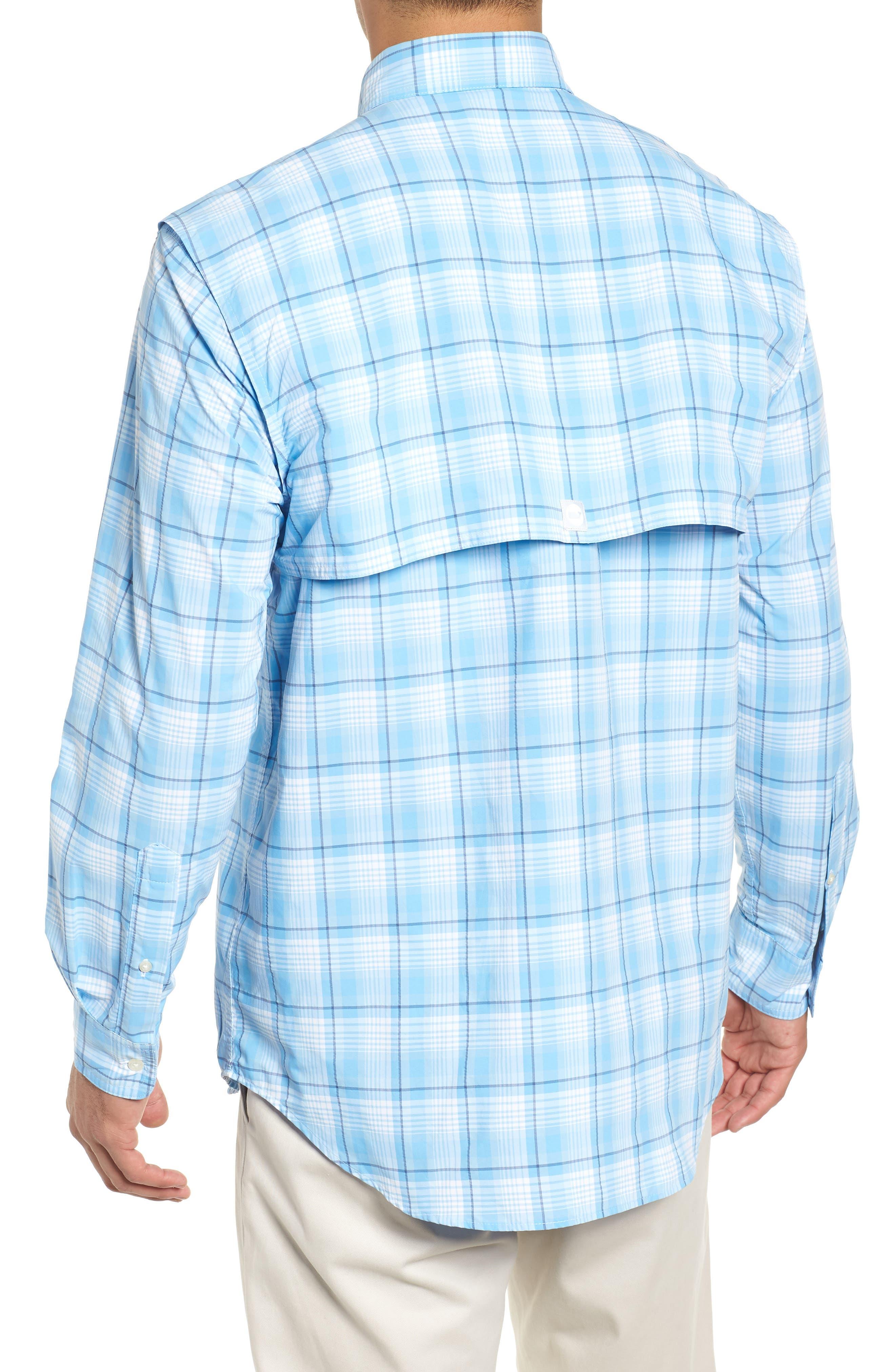 Mariners Way Harbor Regular Fit Performance Sport Shirt,                             Alternate thumbnail 3, color,                             456