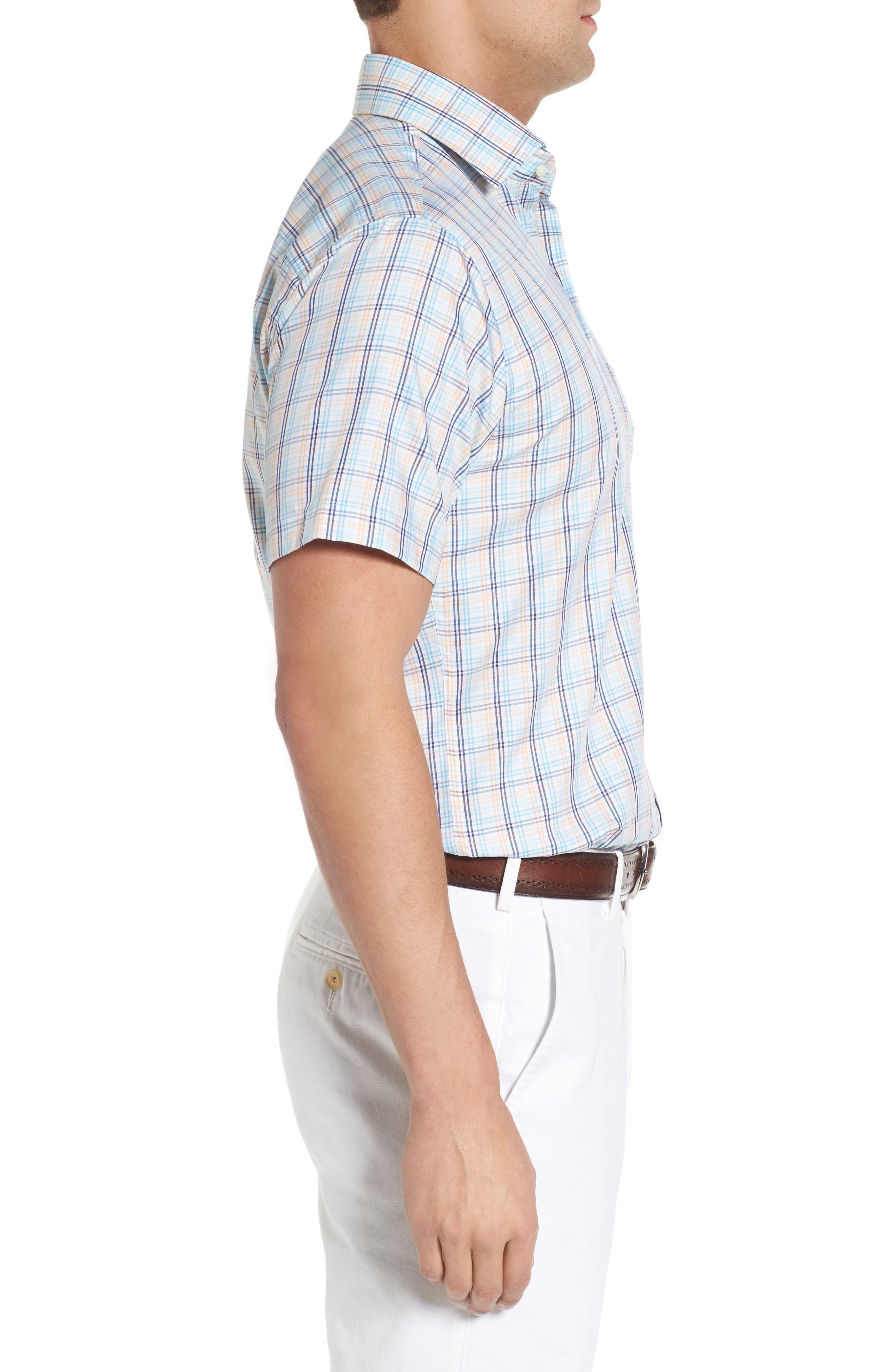 Crown Soft Daybreak Regular Fit Check Sport Shirt,                             Alternate thumbnail 3, color,
