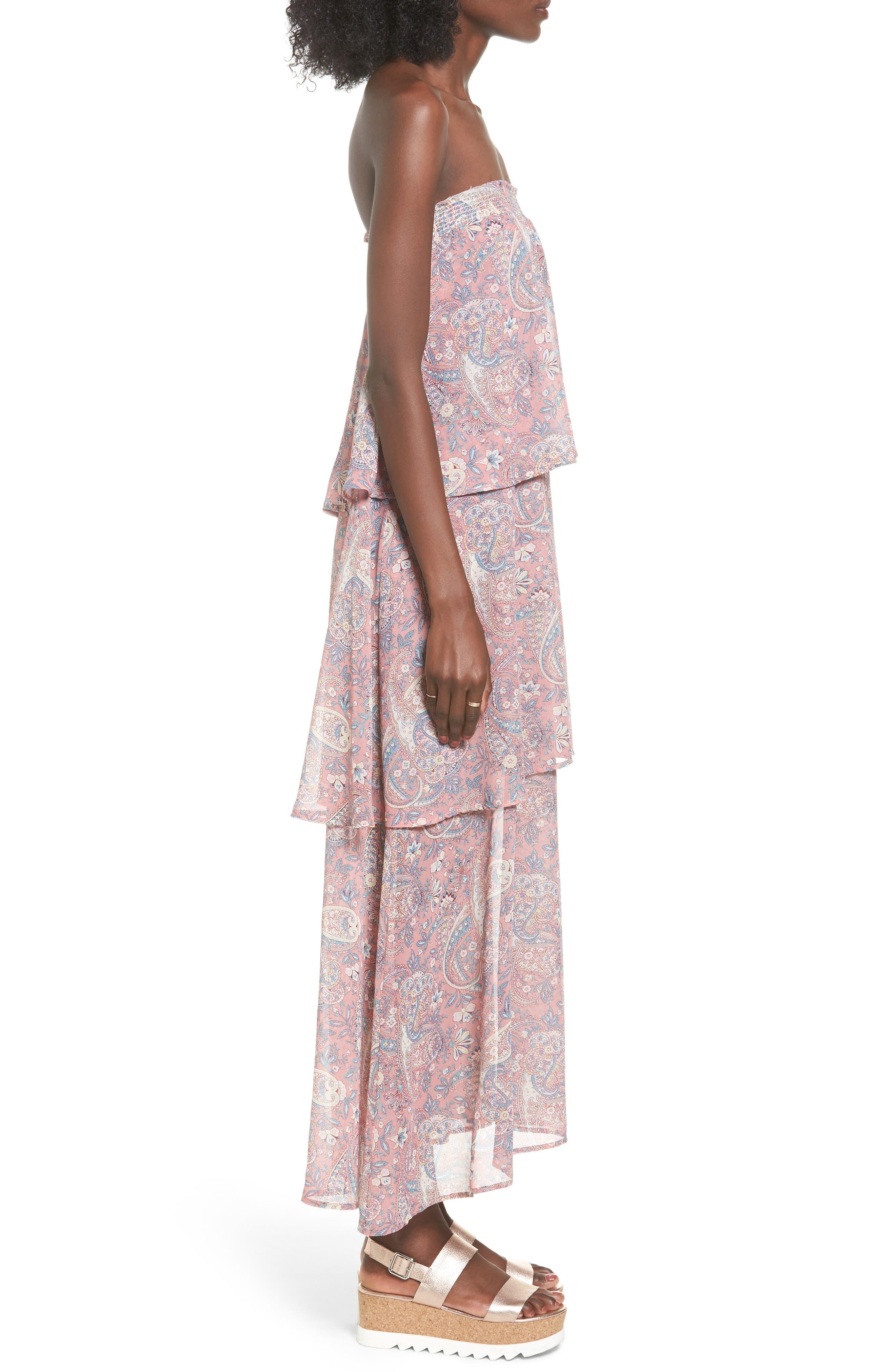 Karla Convertible Strapless Dress,                             Alternate thumbnail 9, color,