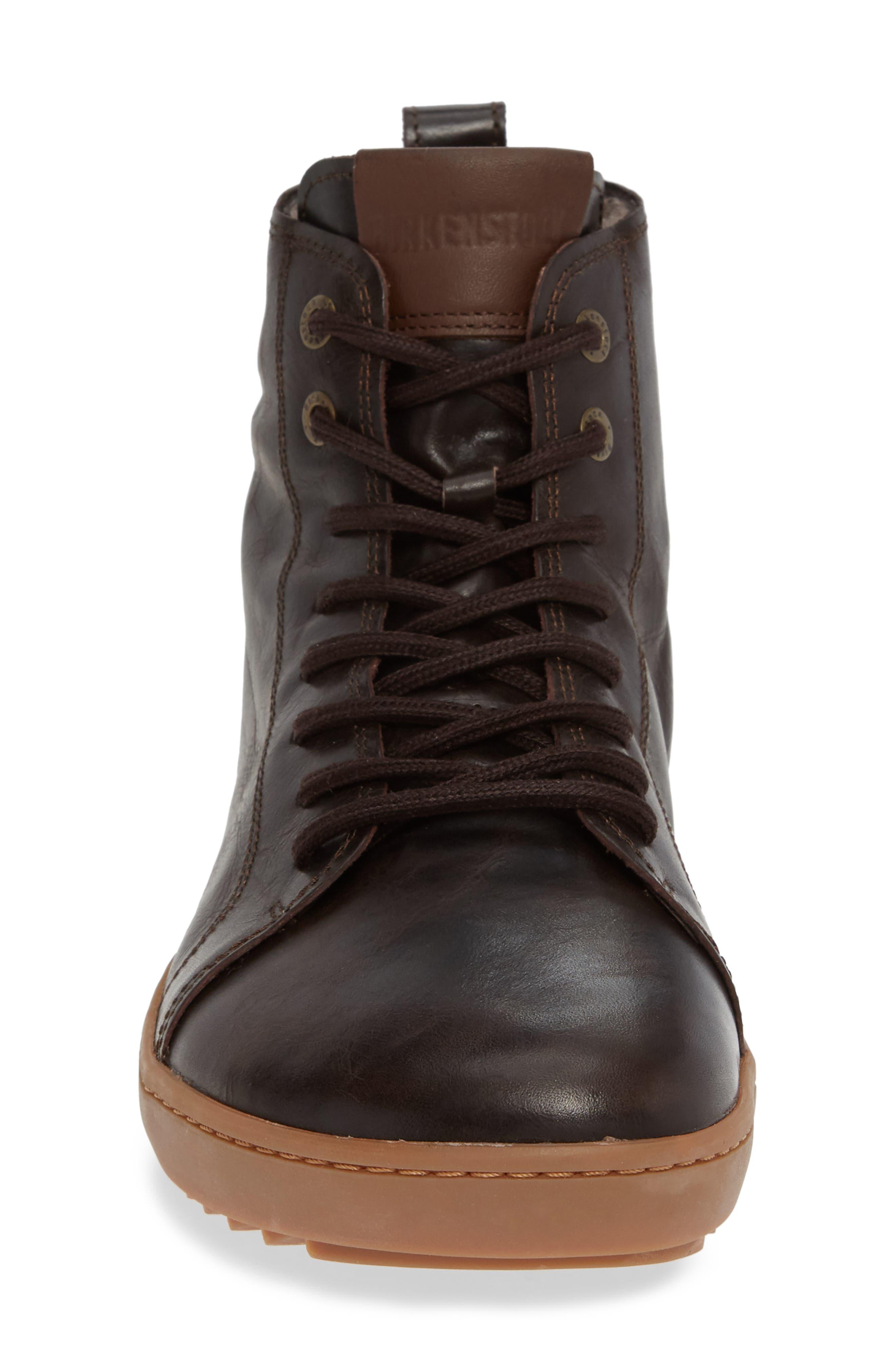 Barlett Genuine Shearling Sneaker,                             Alternate thumbnail 4, color,                             BROWN