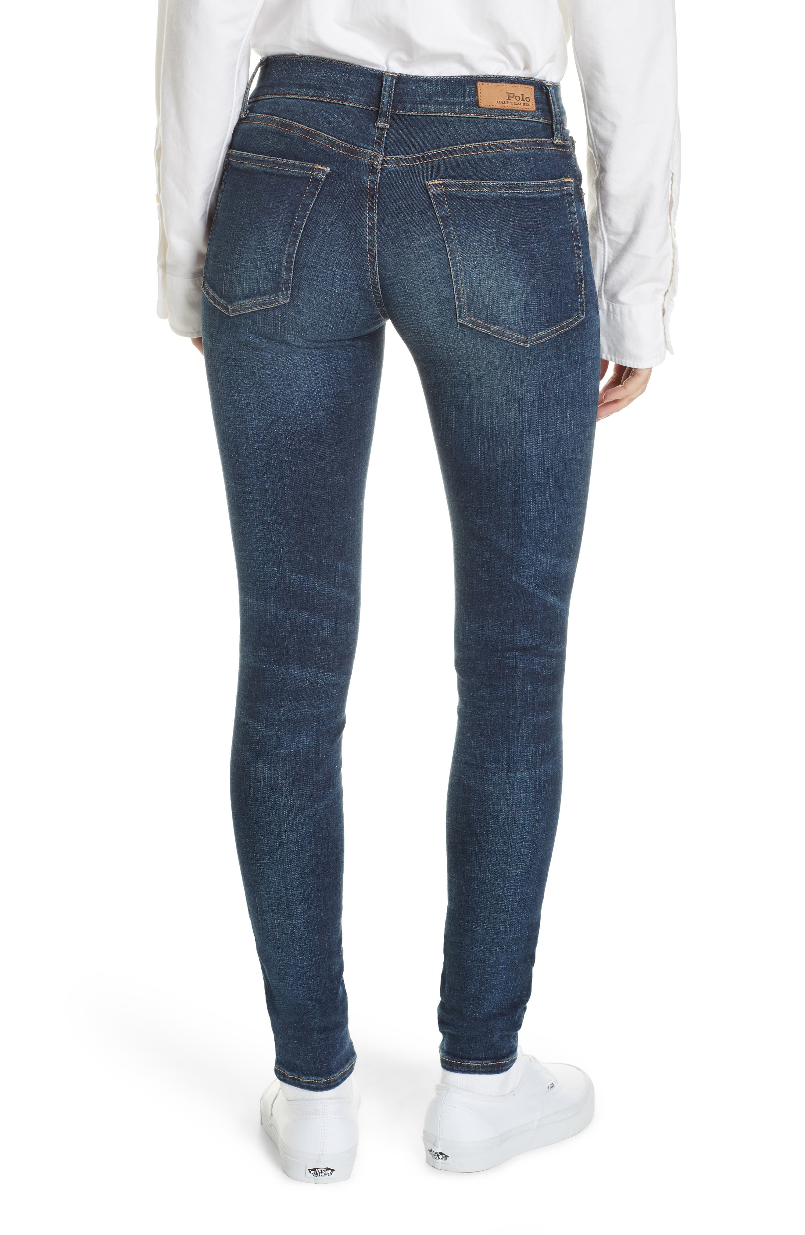 Super Skinny Jeans,                             Alternate thumbnail 2, color,                             DARK INDIGO