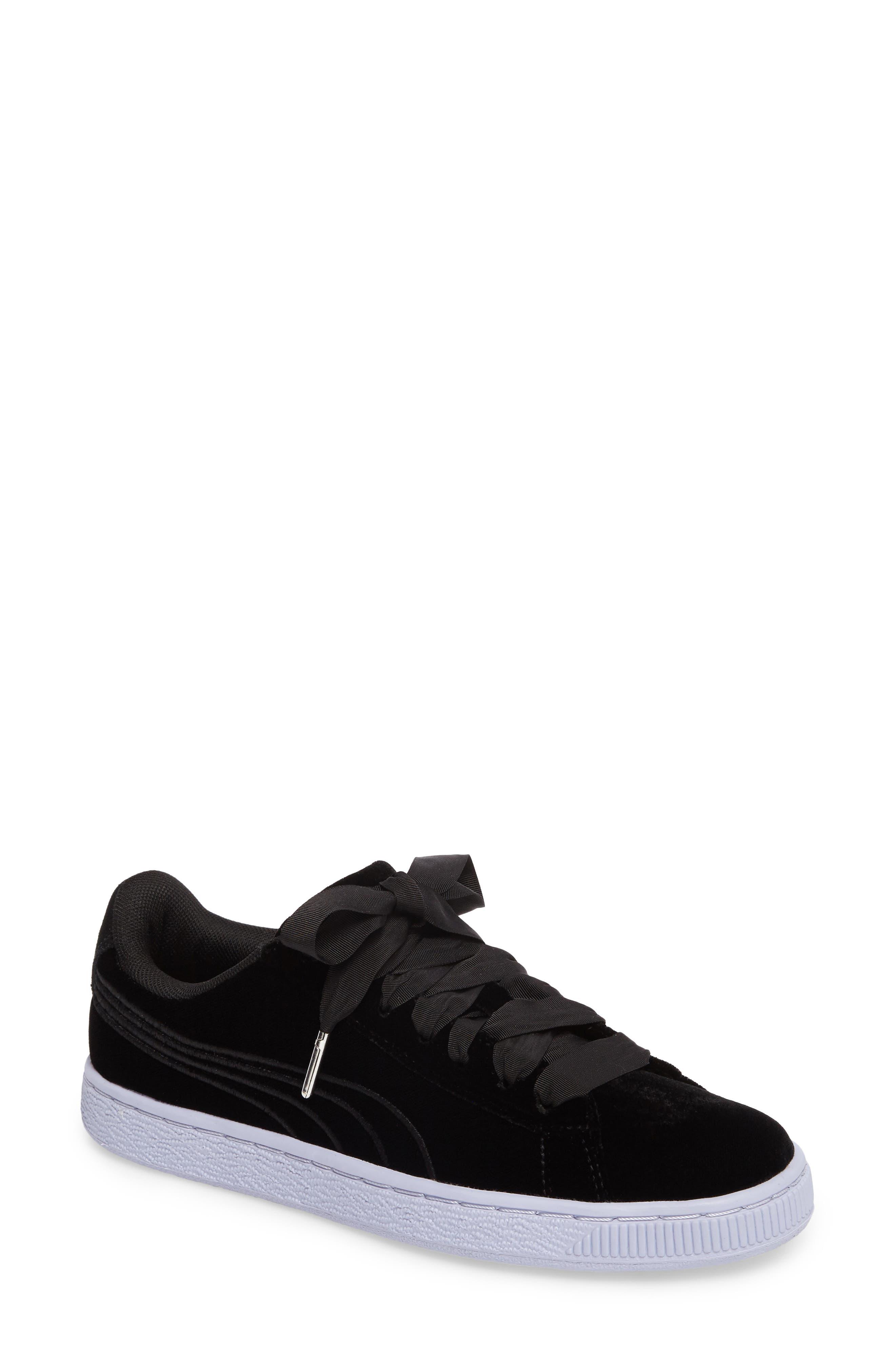 Basket Classic Velour Sneaker,                             Main thumbnail 1, color,                             001