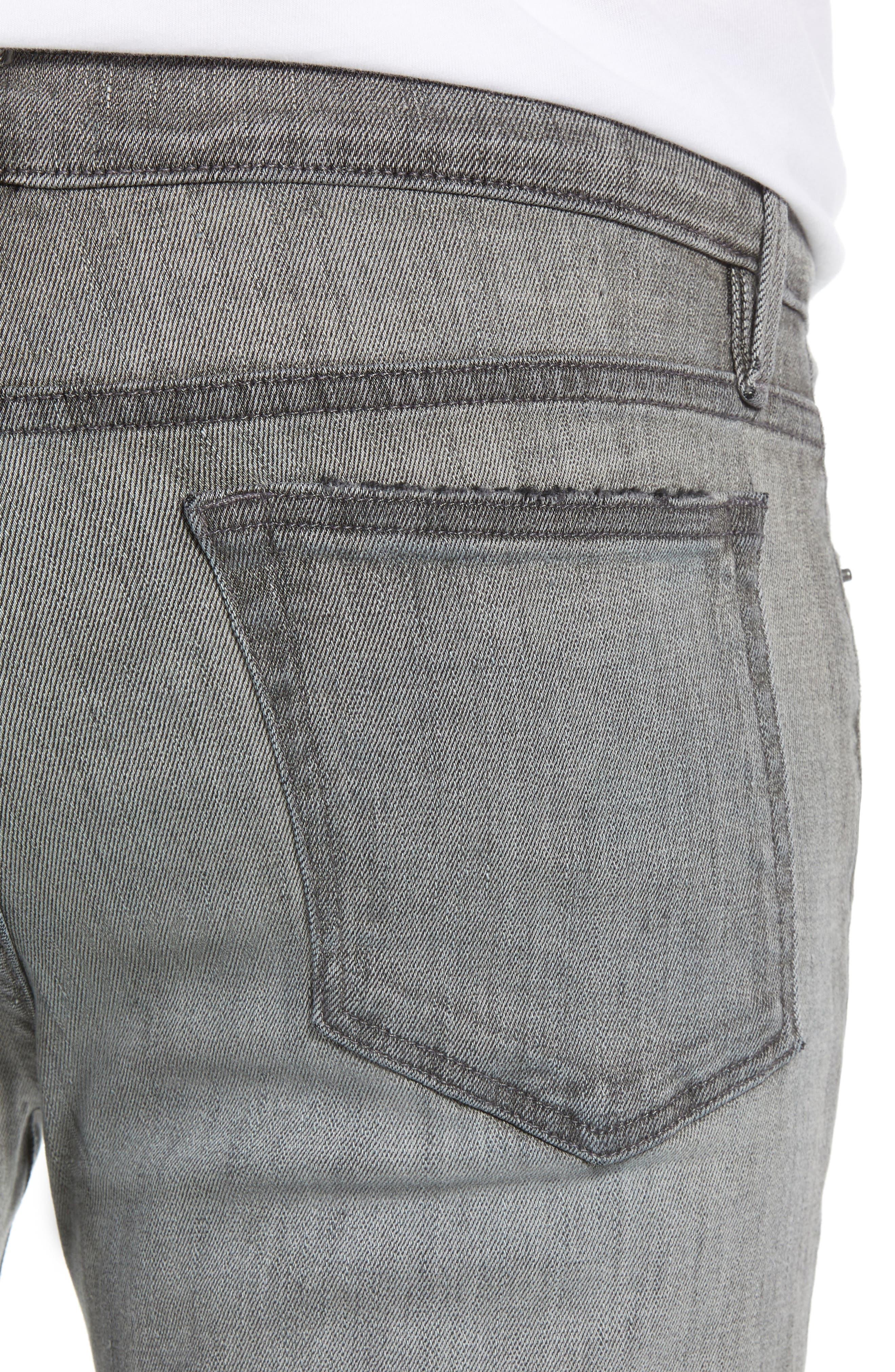 L'Homme Skinny Skinny Fit Jeans,                             Alternate thumbnail 4, color,                             FORT MCHEN