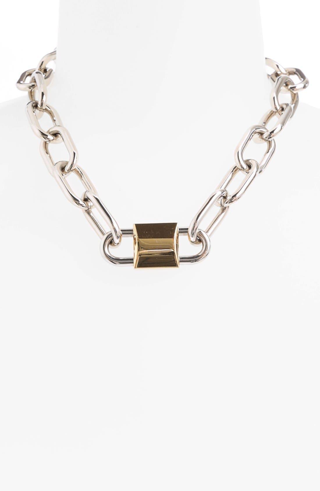 Double Lock Necklace,                             Alternate thumbnail 2, color,                             040