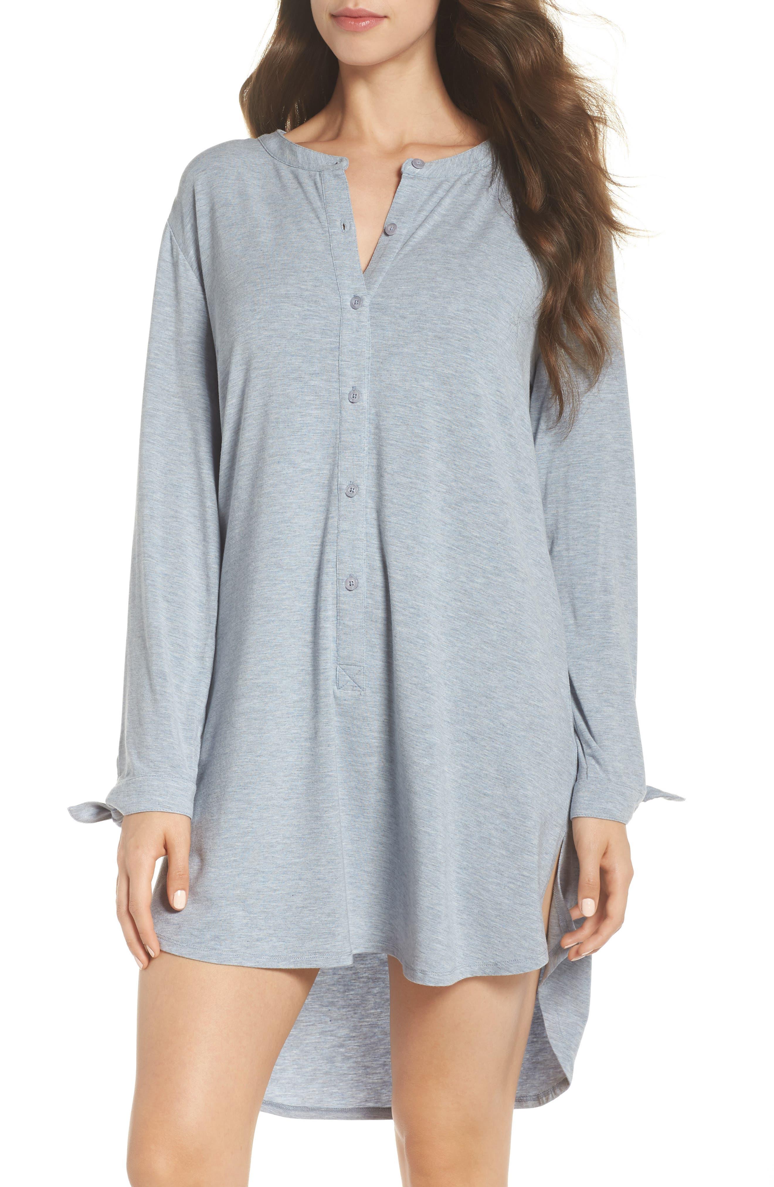 Breathe Modal Jersey Sleep Shirt,                             Main thumbnail 2, color,