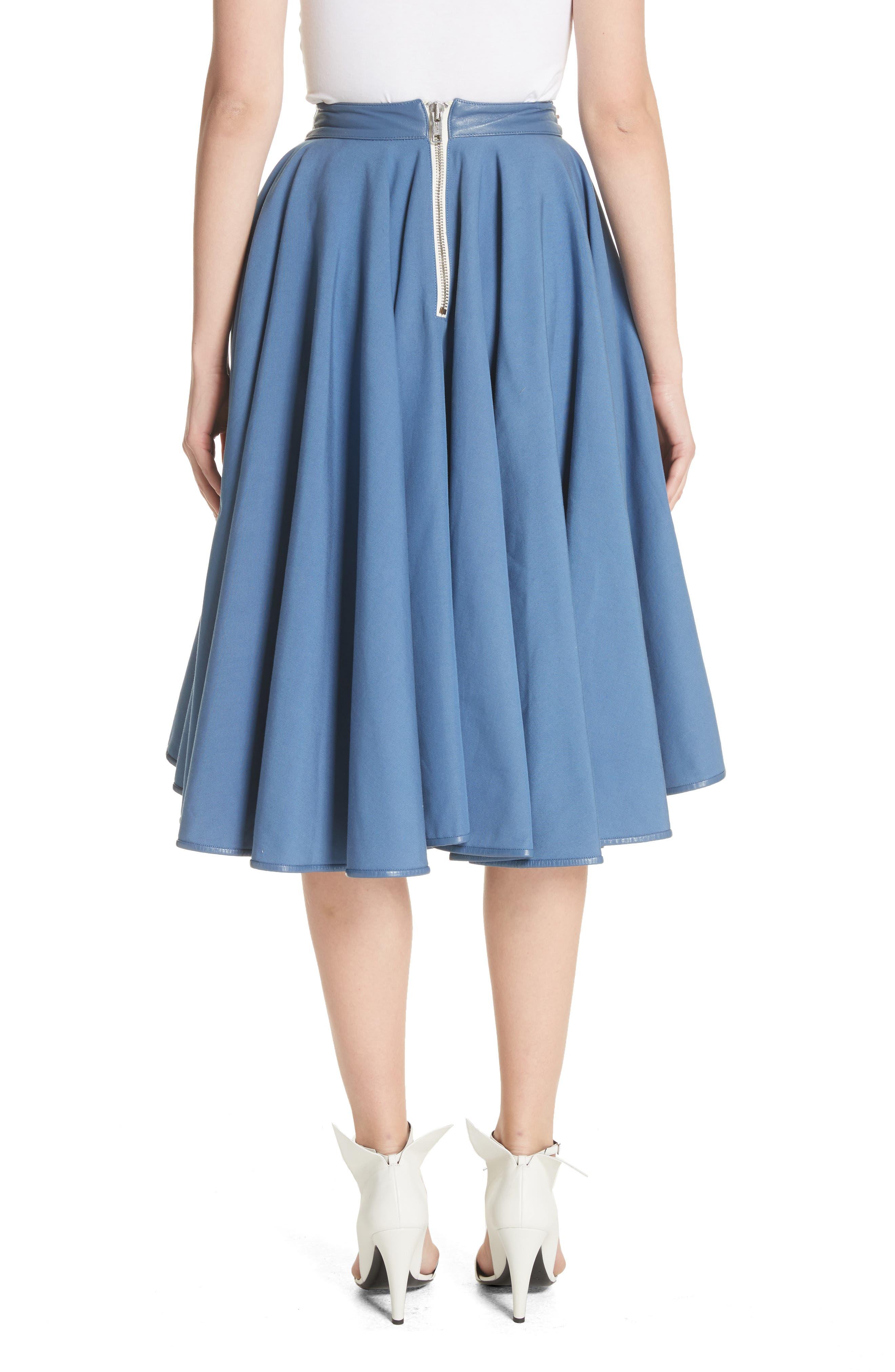 Zip Detail Circle Skirt,                             Alternate thumbnail 2, color,                             422