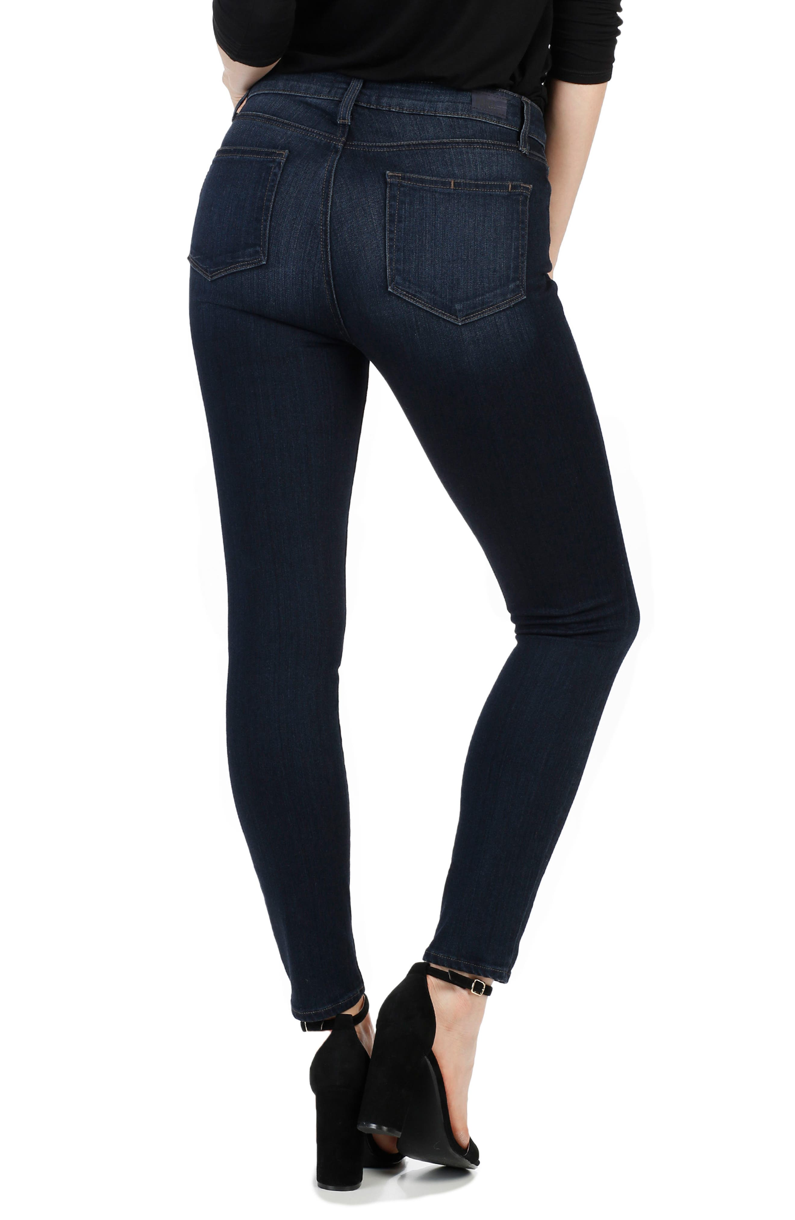 Transcend - Hoxton High Waist Ankle Skinny Jeans,                             Alternate thumbnail 3, color,