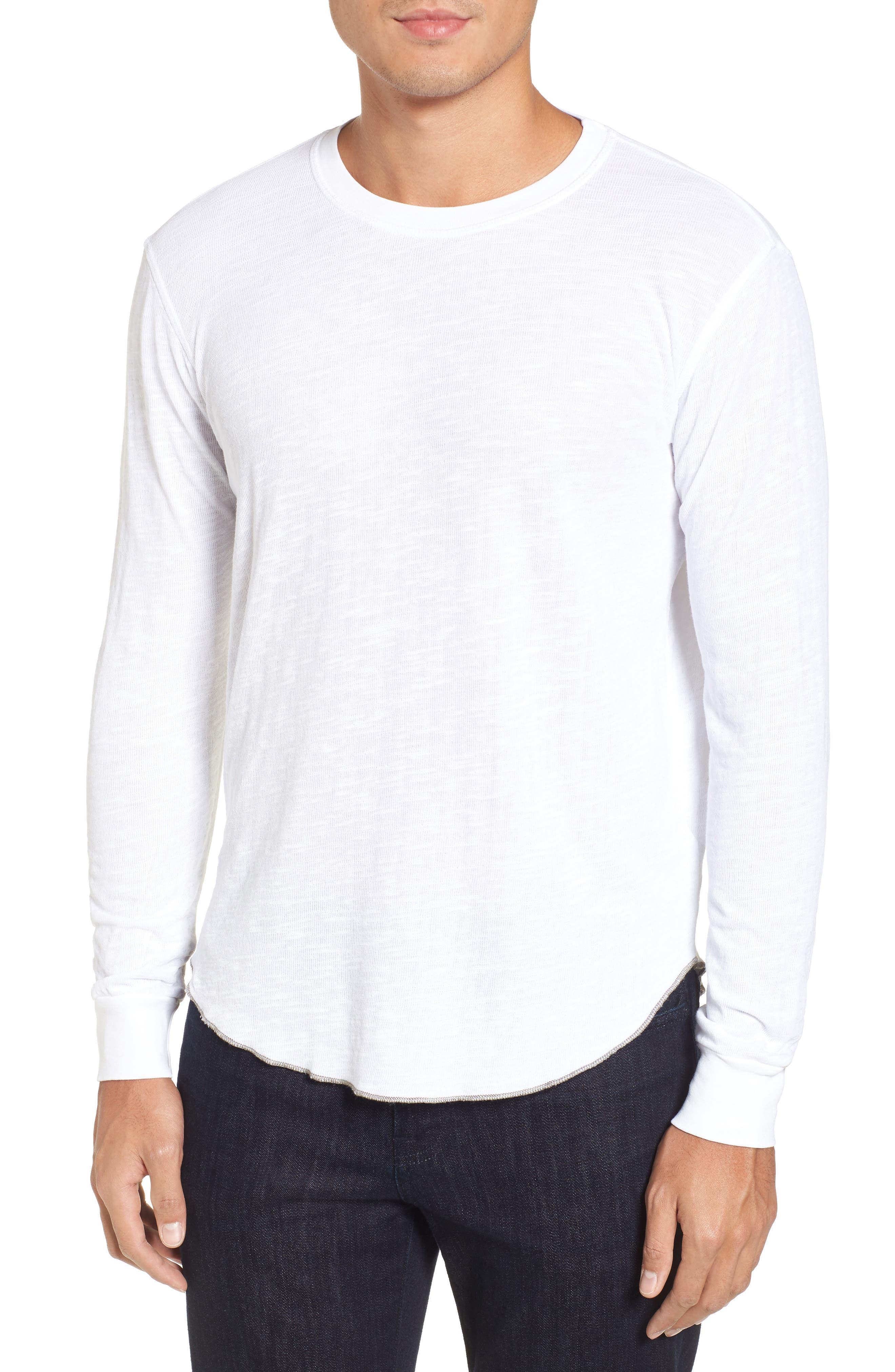 Double Layer Slim Crewneck T-Shirt,                             Main thumbnail 4, color,