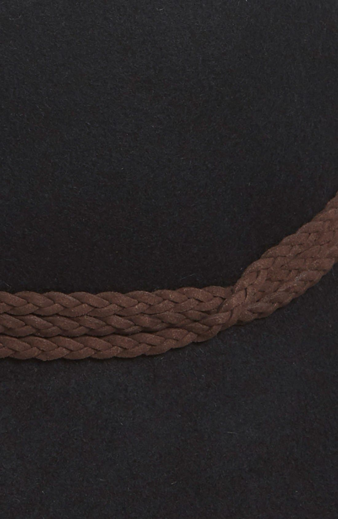 Floppy Wool Panama Hat,                             Alternate thumbnail 2, color,                             001