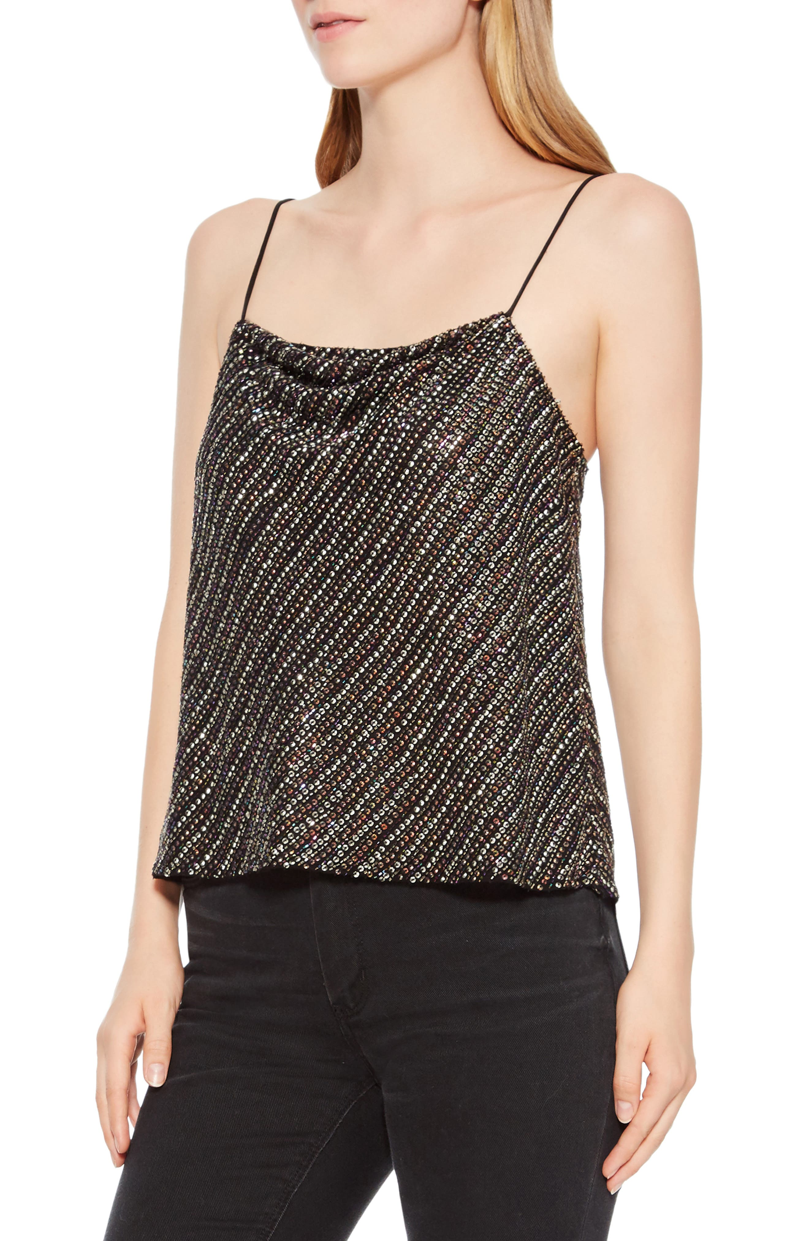 Cowl Neck Beaded Camisole,                             Alternate thumbnail 3, color,                             015