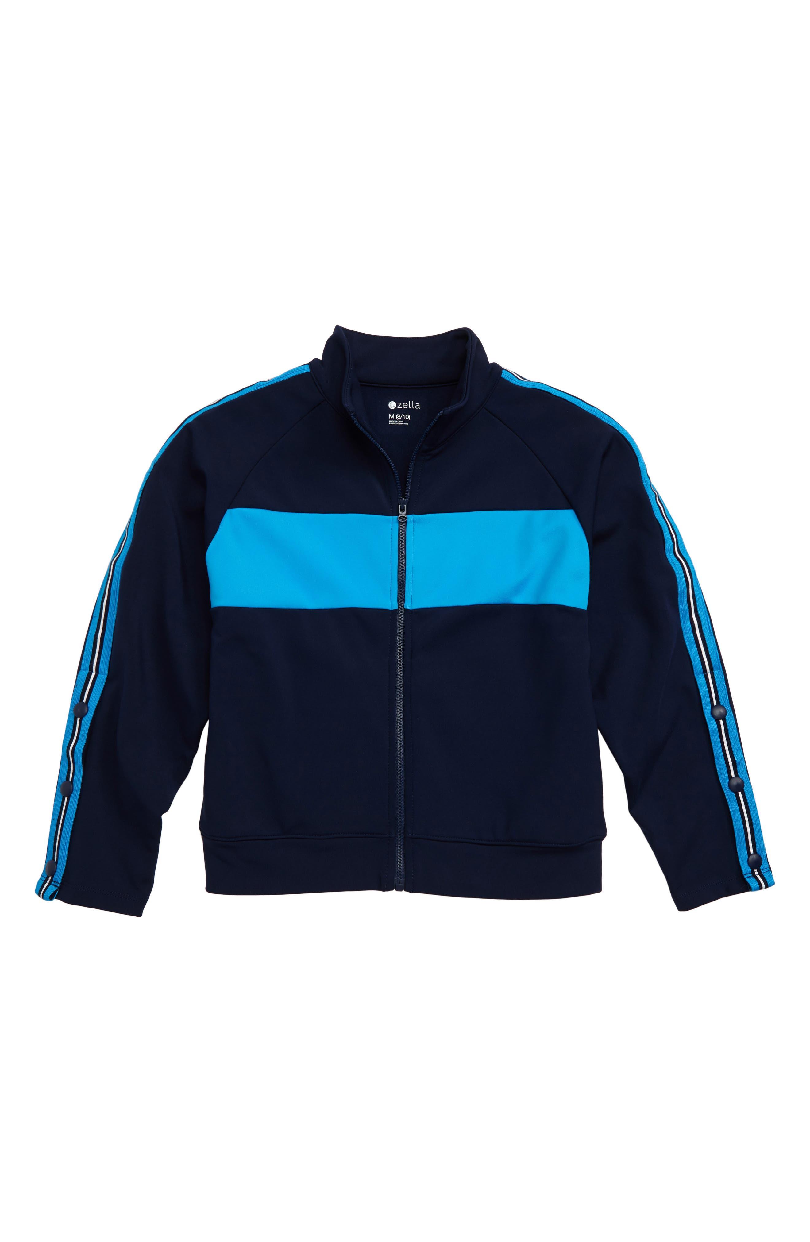 Side Stripe Track Jacket,                         Main,                         color, NAVY MARITIME