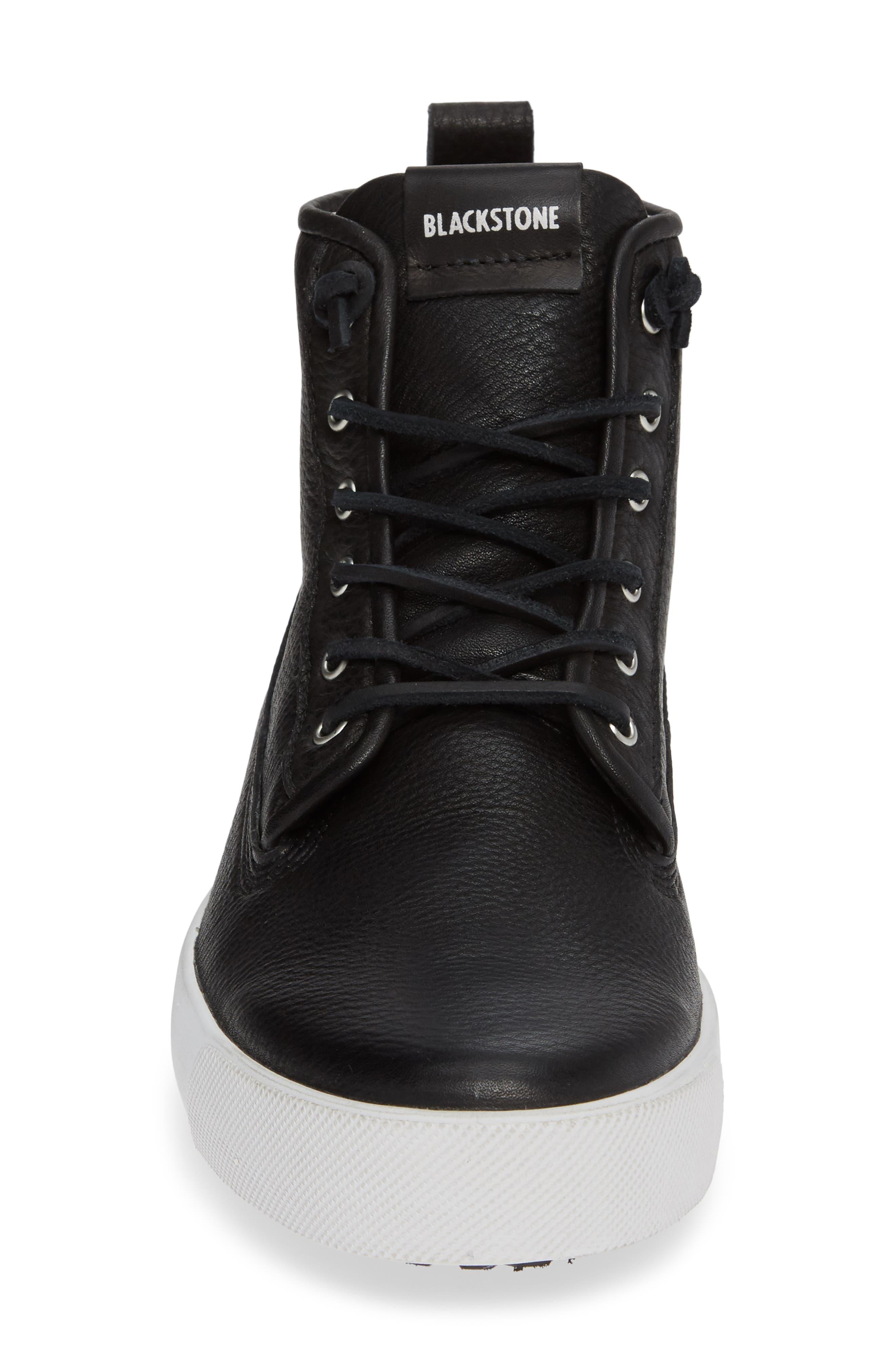 QM80 High Top Sneaker,                             Alternate thumbnail 4, color,                             BLACK