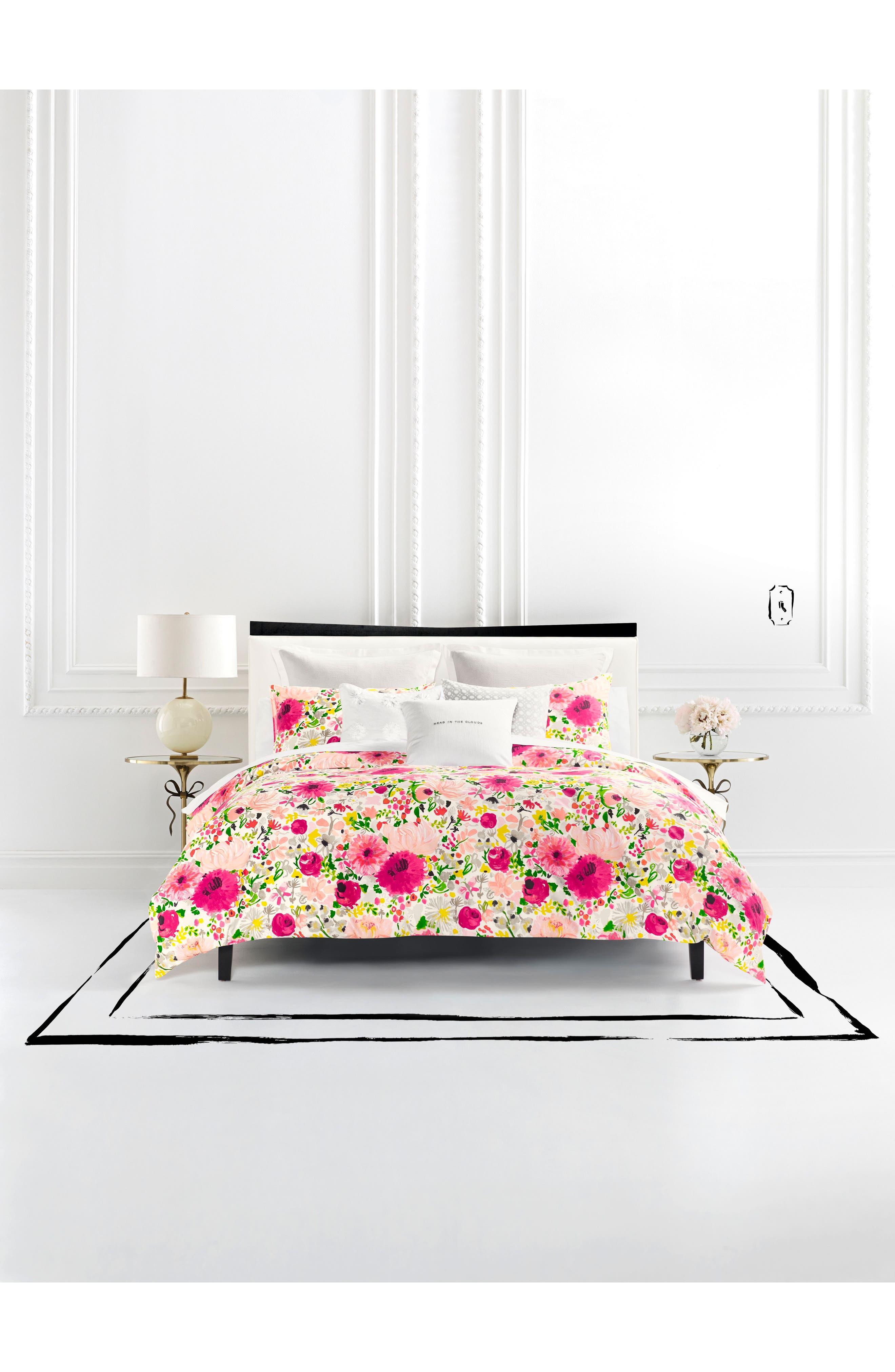 KATE SPADE NEW YORK dahlias comforter & sham set, Main, color, 650