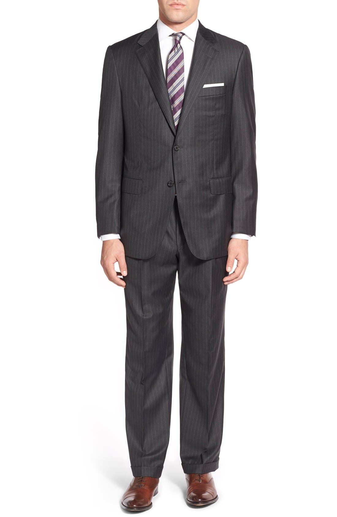 'Addison - A Series' Classic Fit Stripe Wool Suit,                             Main thumbnail 1, color,                             031