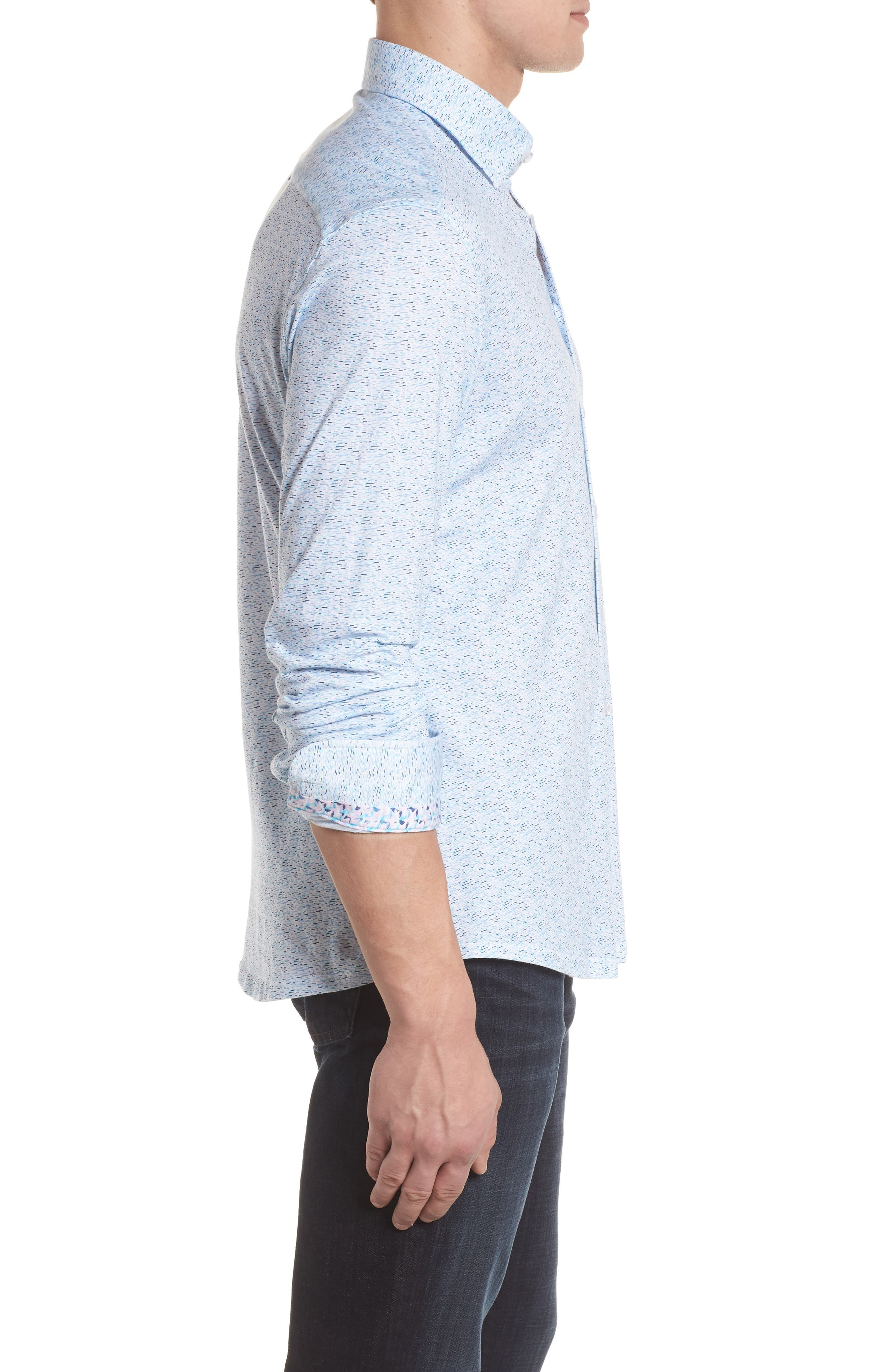 STONE ROSE,                             Contemporary Fit Print Sport Shirt,                             Alternate thumbnail 3, color,                             400