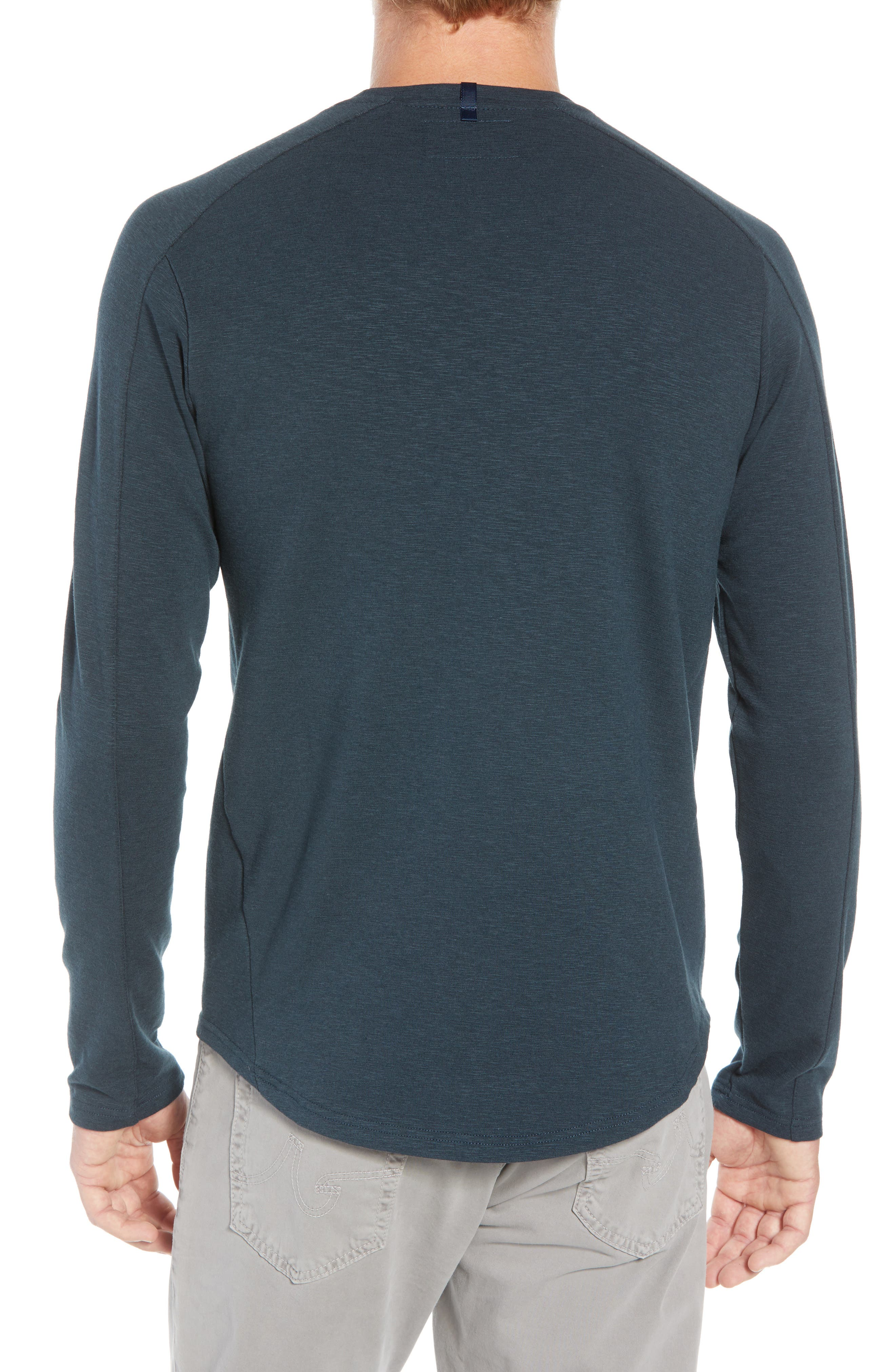 Douglas Slub Long Sleeve T-Shirt,                             Alternate thumbnail 2, color,                             TEAL