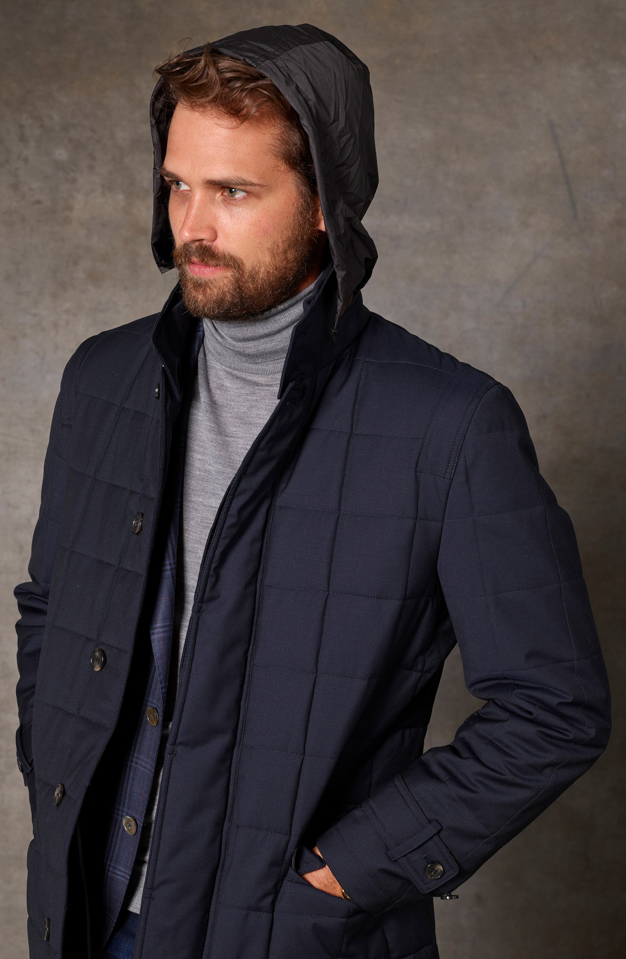 Quilted Wool Parka,                             Alternate thumbnail 7, color,                             410