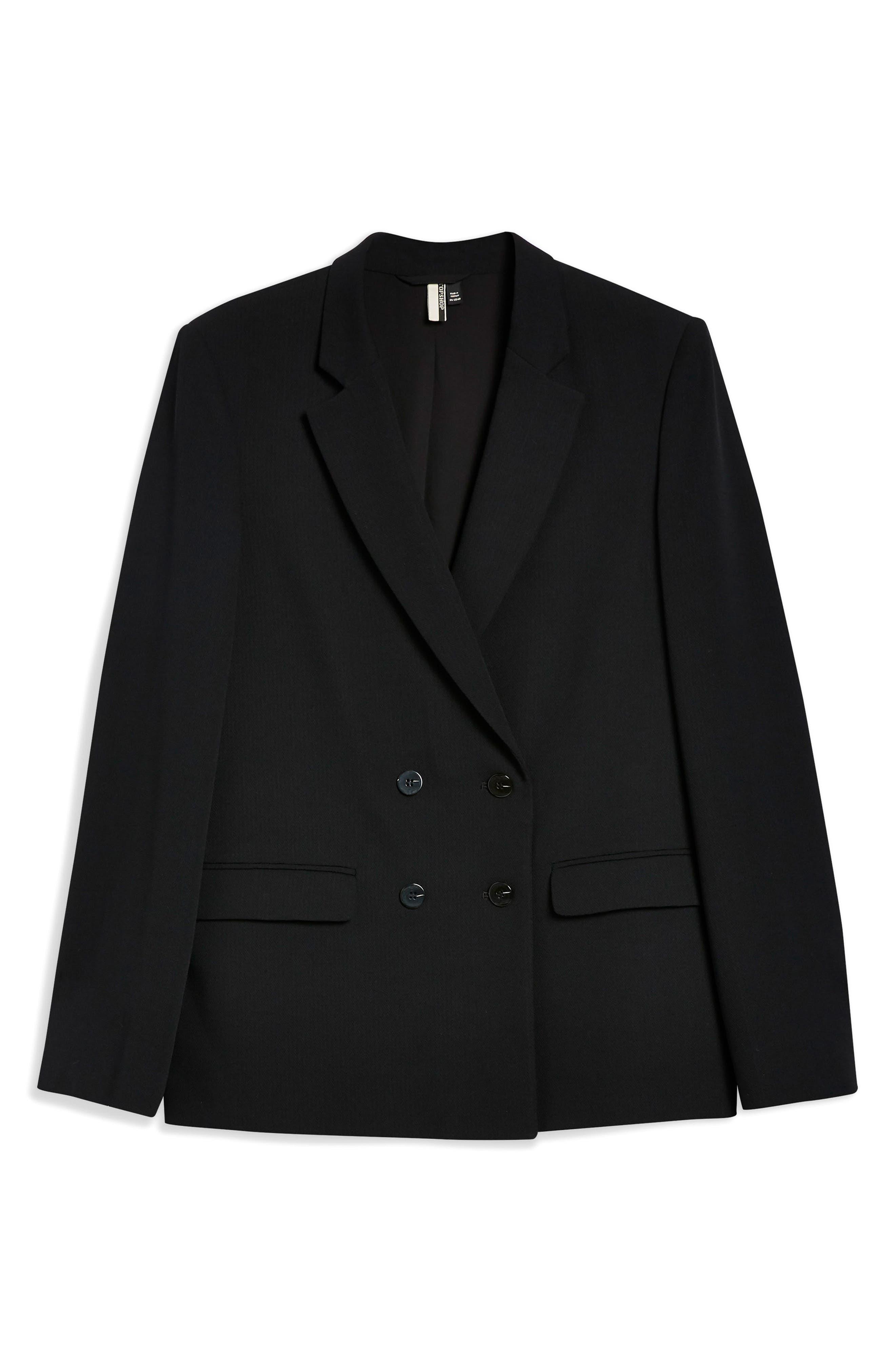 Slouch Suit Blazer,                             Alternate thumbnail 3, color,                             001