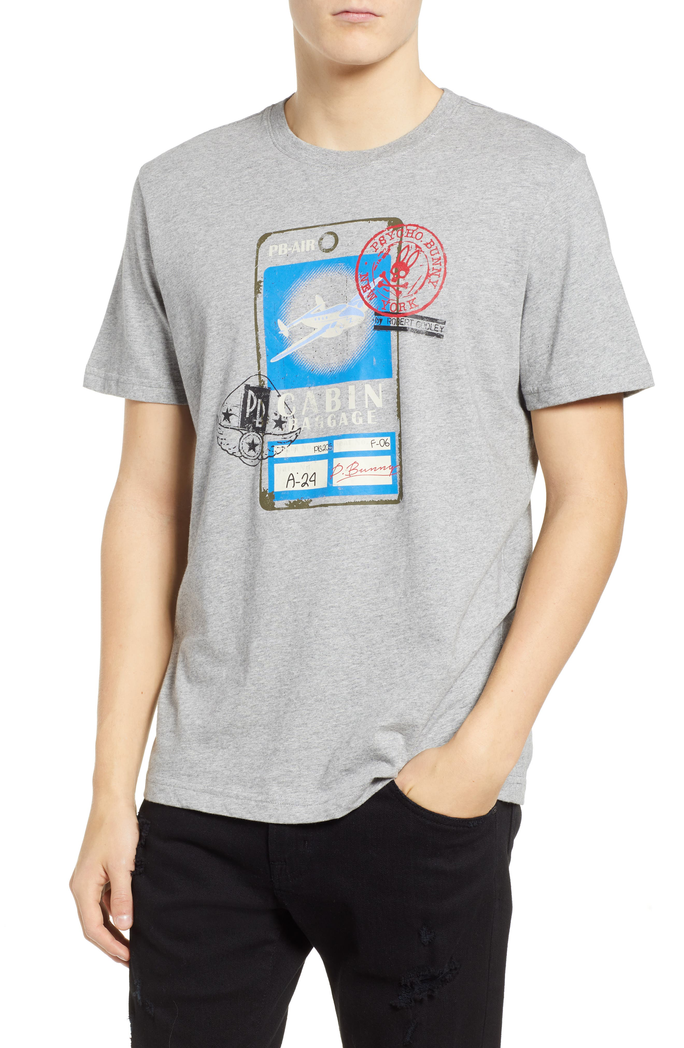 Psycho Bunny Radcot Graphic T-Shirt, Grey