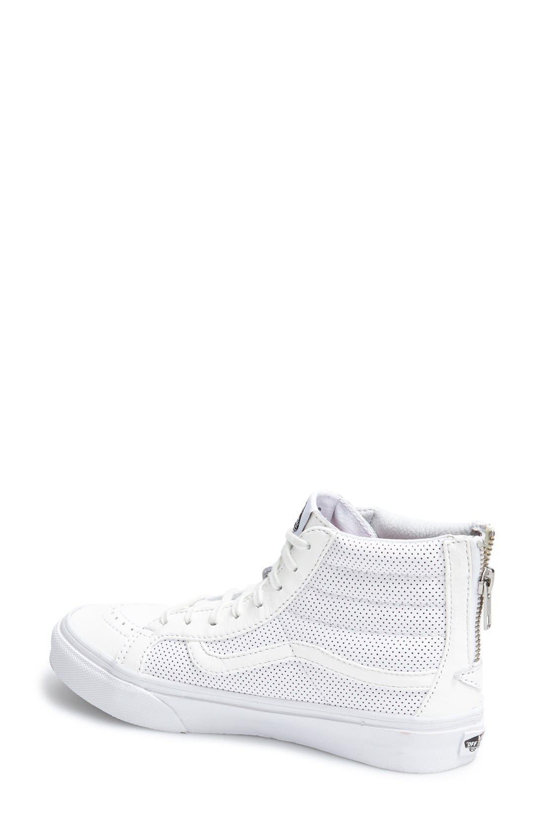 'Sk8-Hi Slim' Perforated Sneaker,                             Alternate thumbnail 6, color,