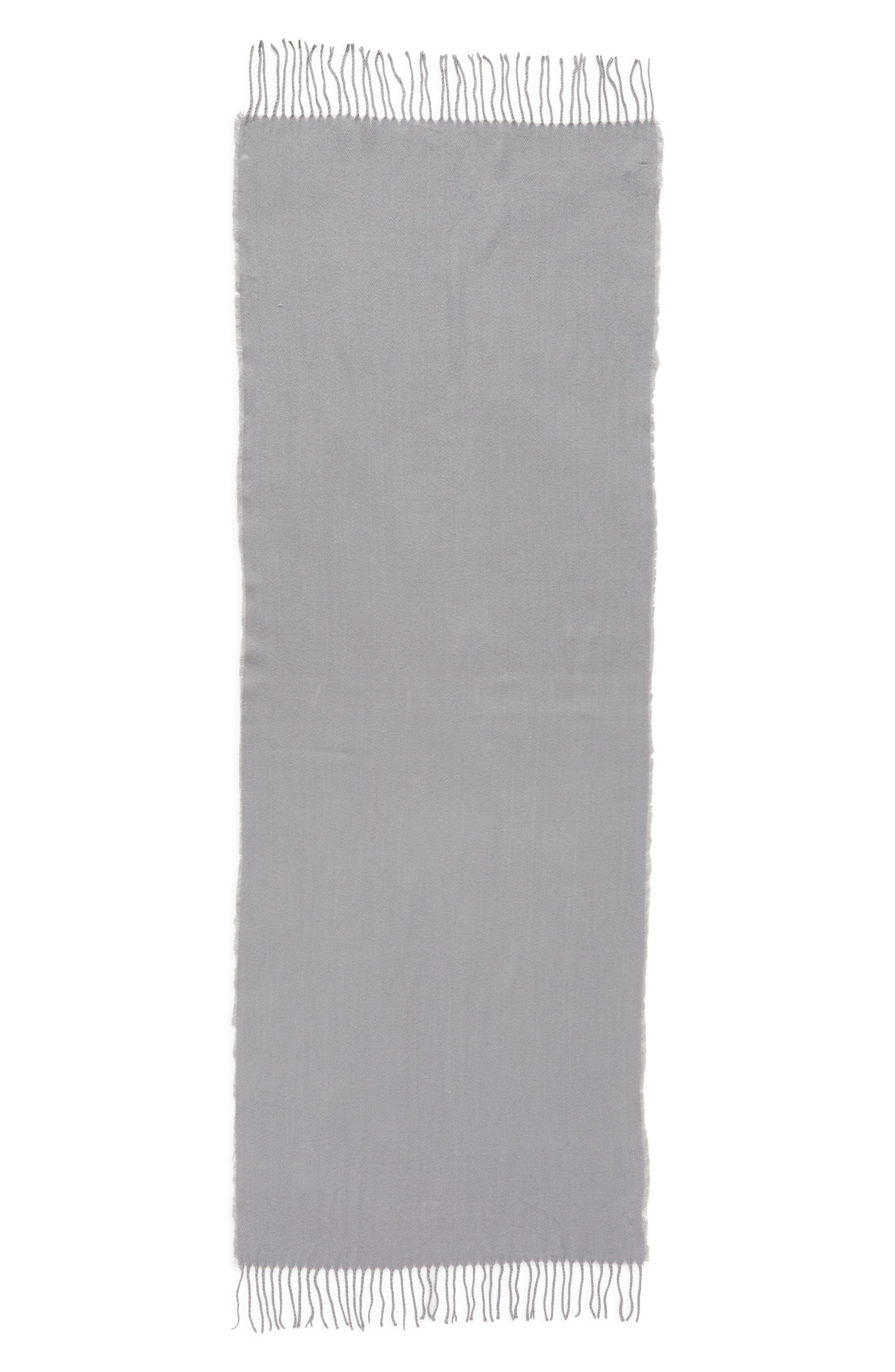 Solid Scarf,                             Alternate thumbnail 3, color,                             GREY LILAC