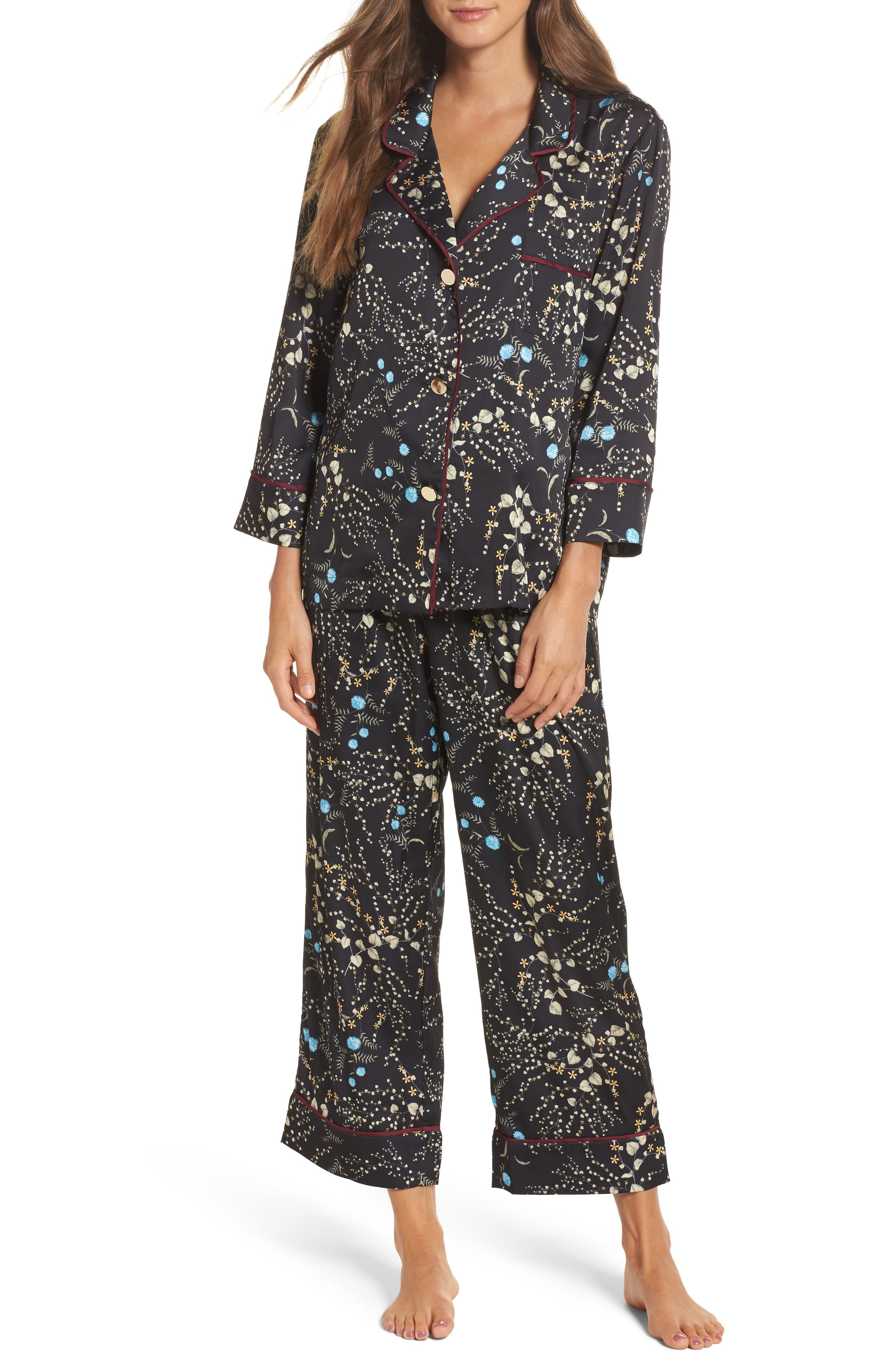 Botanical Crop Pajamas,                             Main thumbnail 1, color,