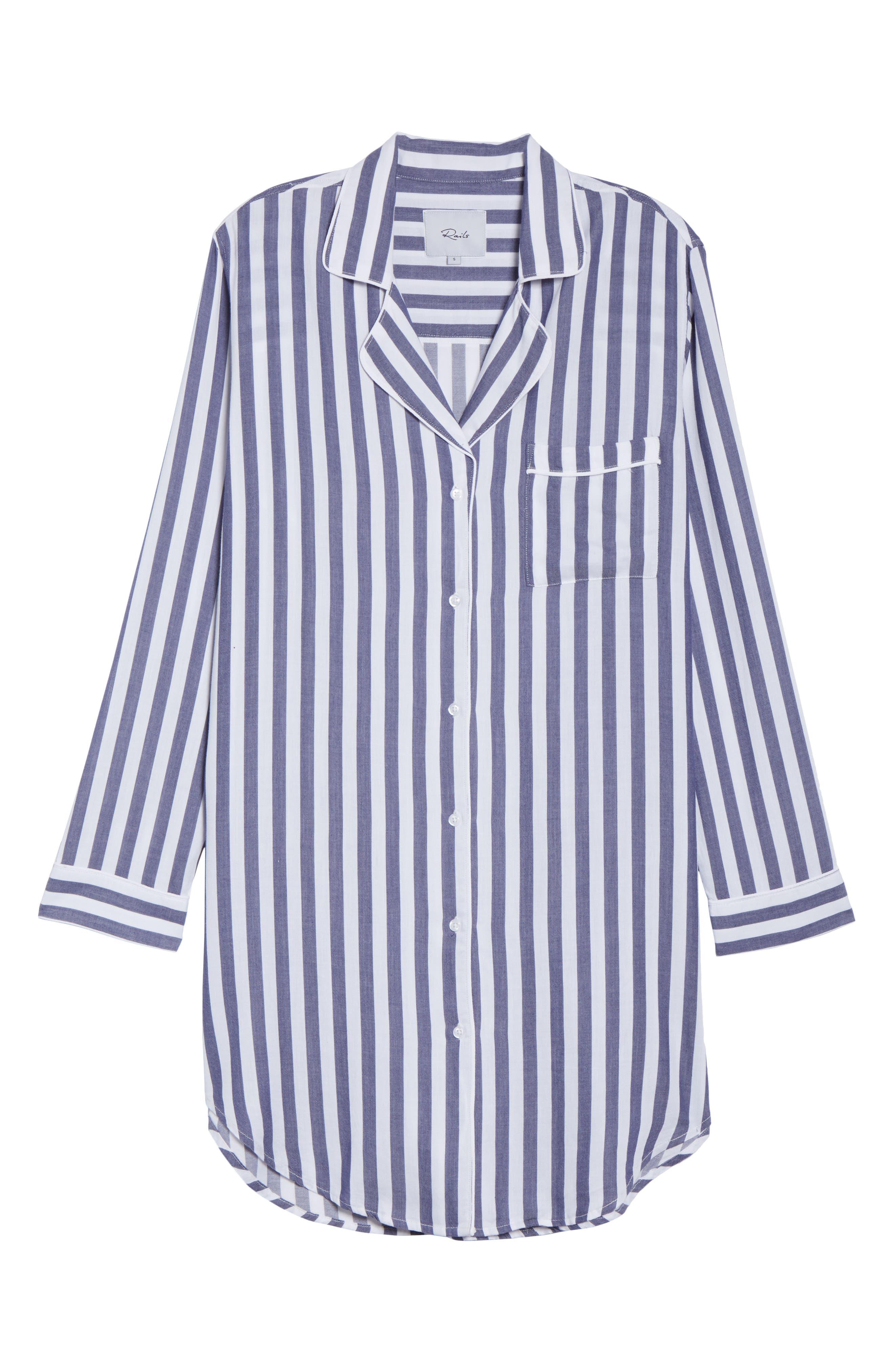 RAILS,                             Striped Sleep Shirt,                             Alternate thumbnail 6, color,                             434