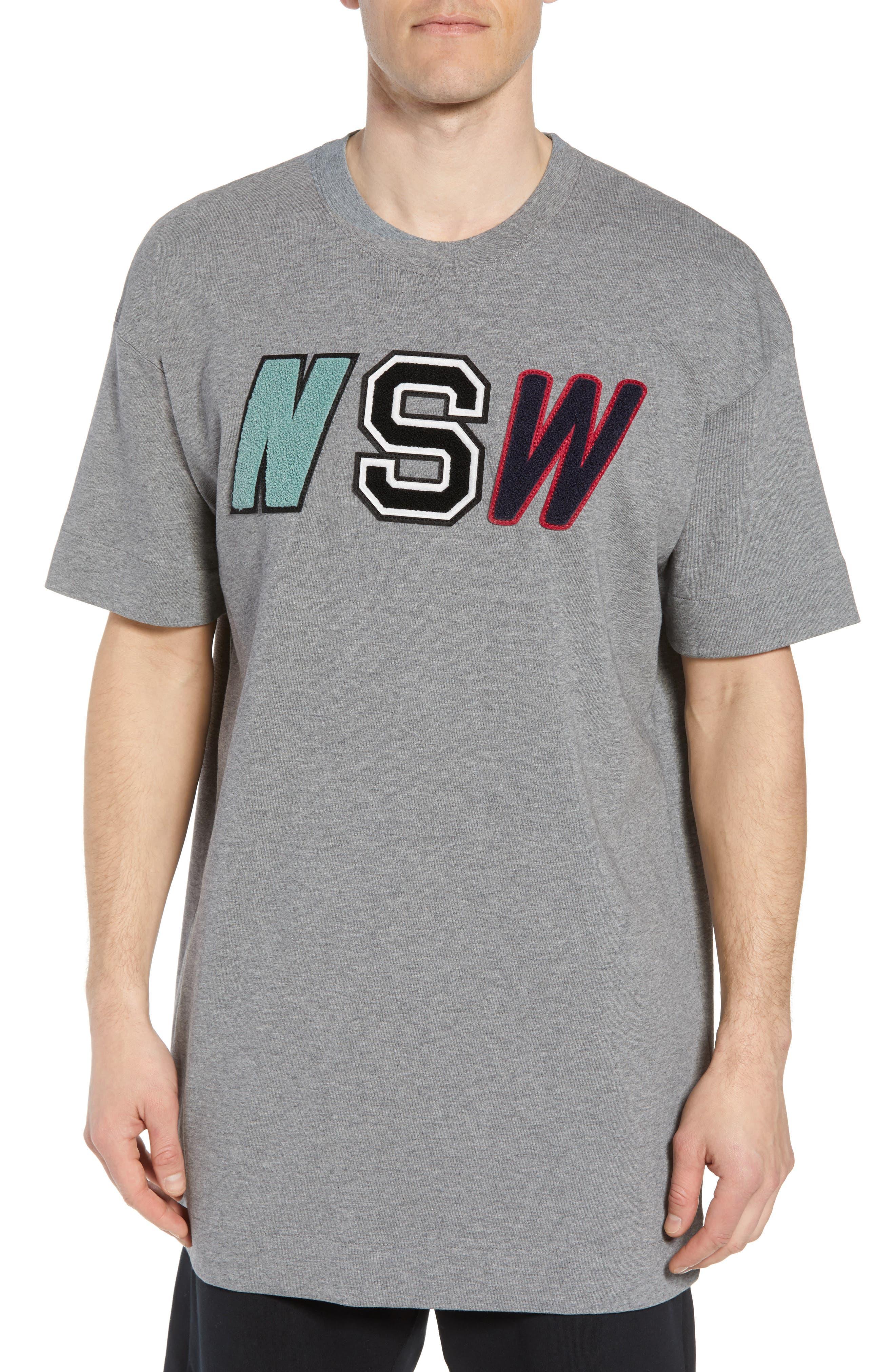 Sportswear NSW Appliqué T-Shirt,                             Main thumbnail 1, color,                             CARBON HEATHER