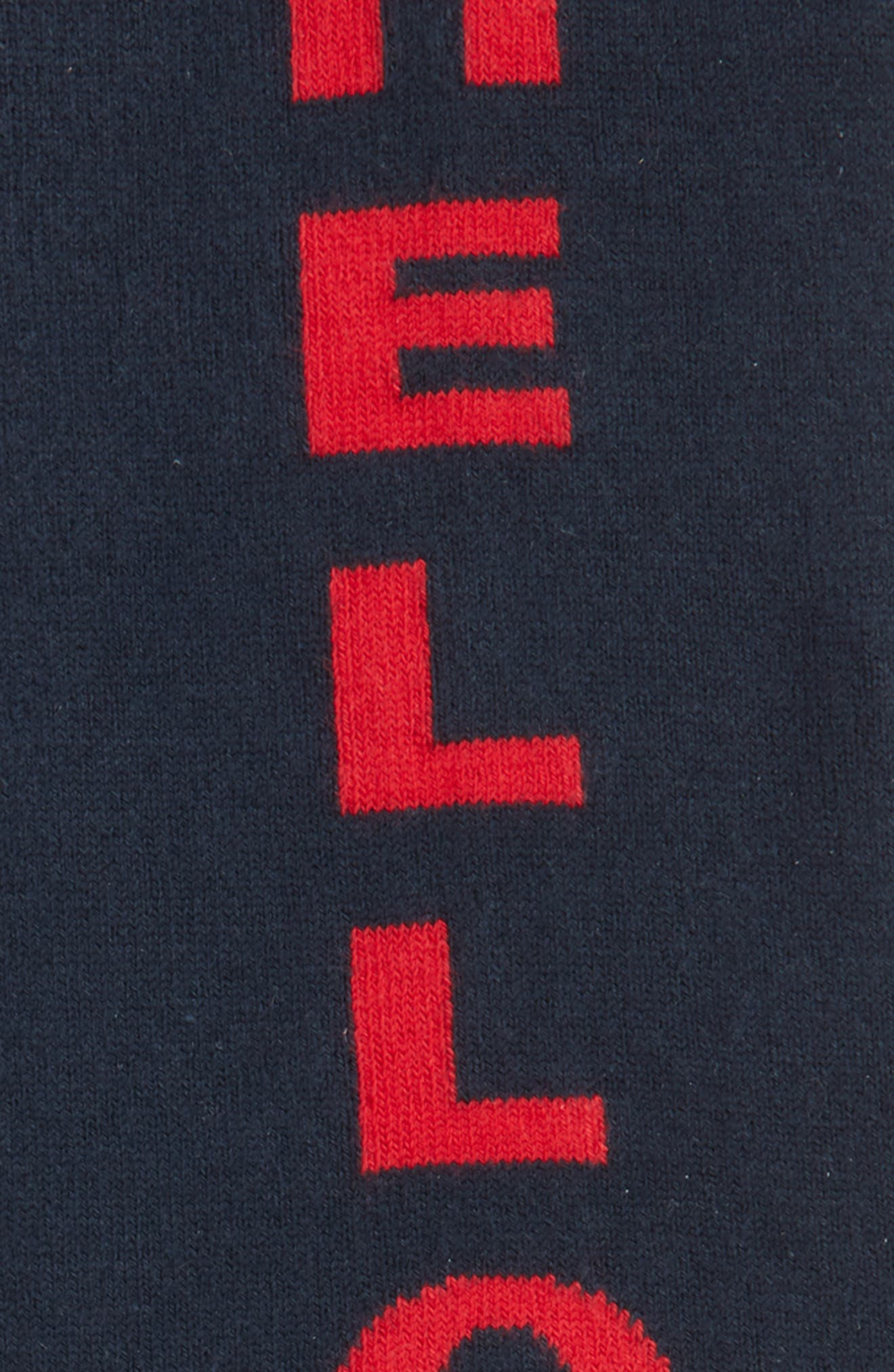 Scribble Crew Socks,                             Alternate thumbnail 5, color,
