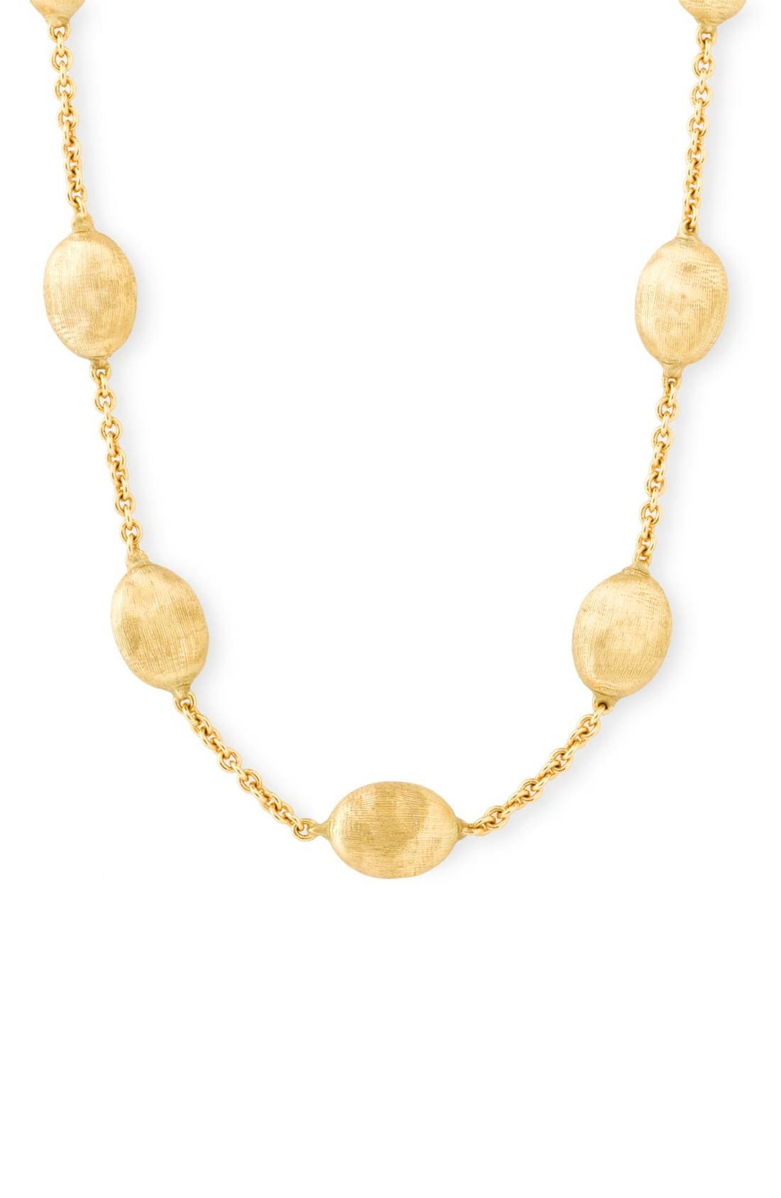 'Siviglia' Station Necklace,                             Alternate thumbnail 3, color,                             YELLOW GOLD
