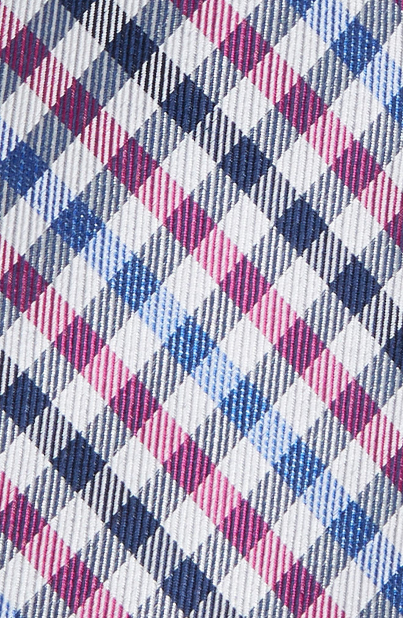 MICHAEL KORS,                             Check Silk Tie,                             Alternate thumbnail 2, color,                             FUCHSIA