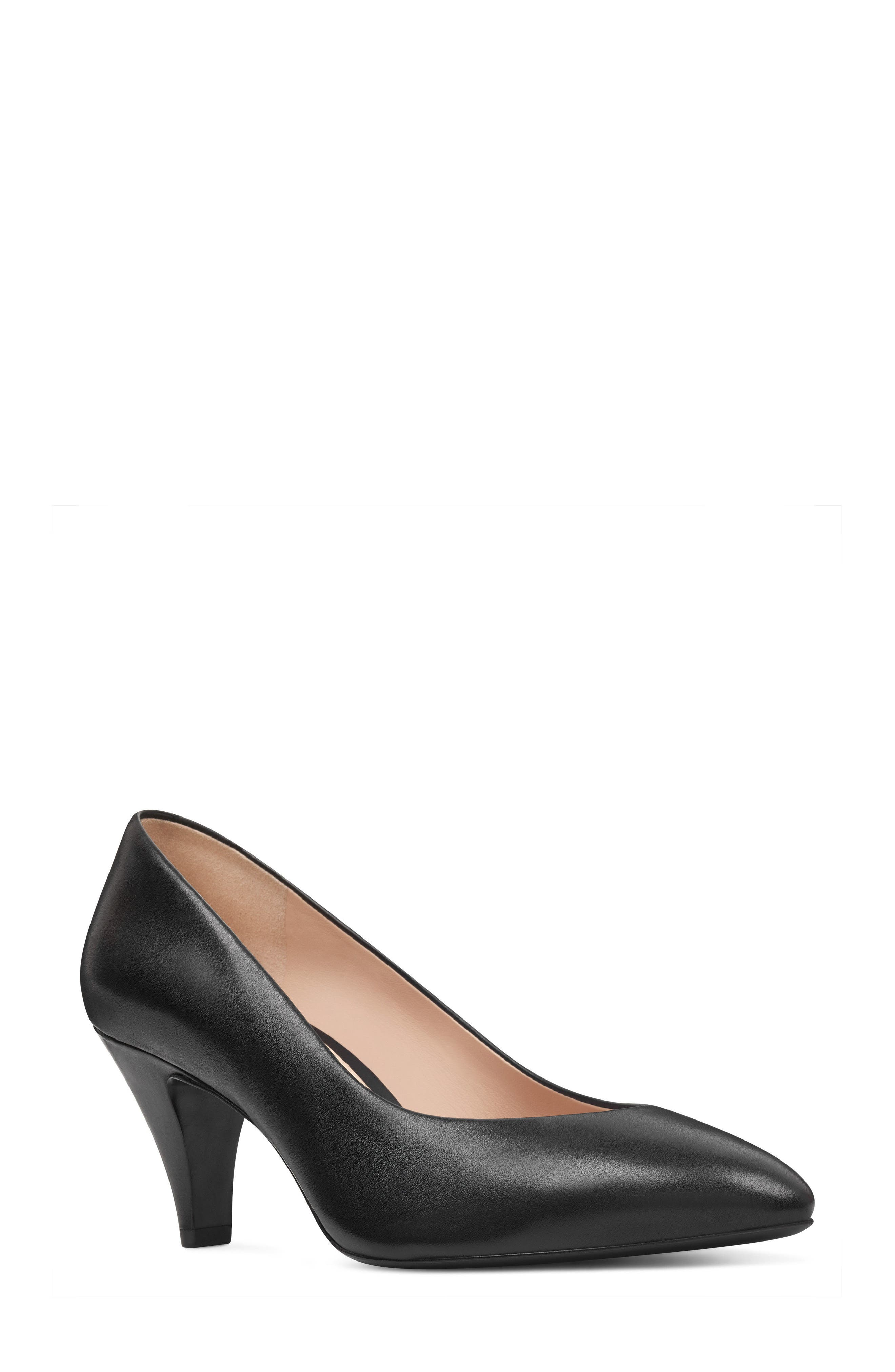 Faith - 40th Anniversary Capsule Collection Pump,                             Main thumbnail 1, color,                             BLACK LEATHER