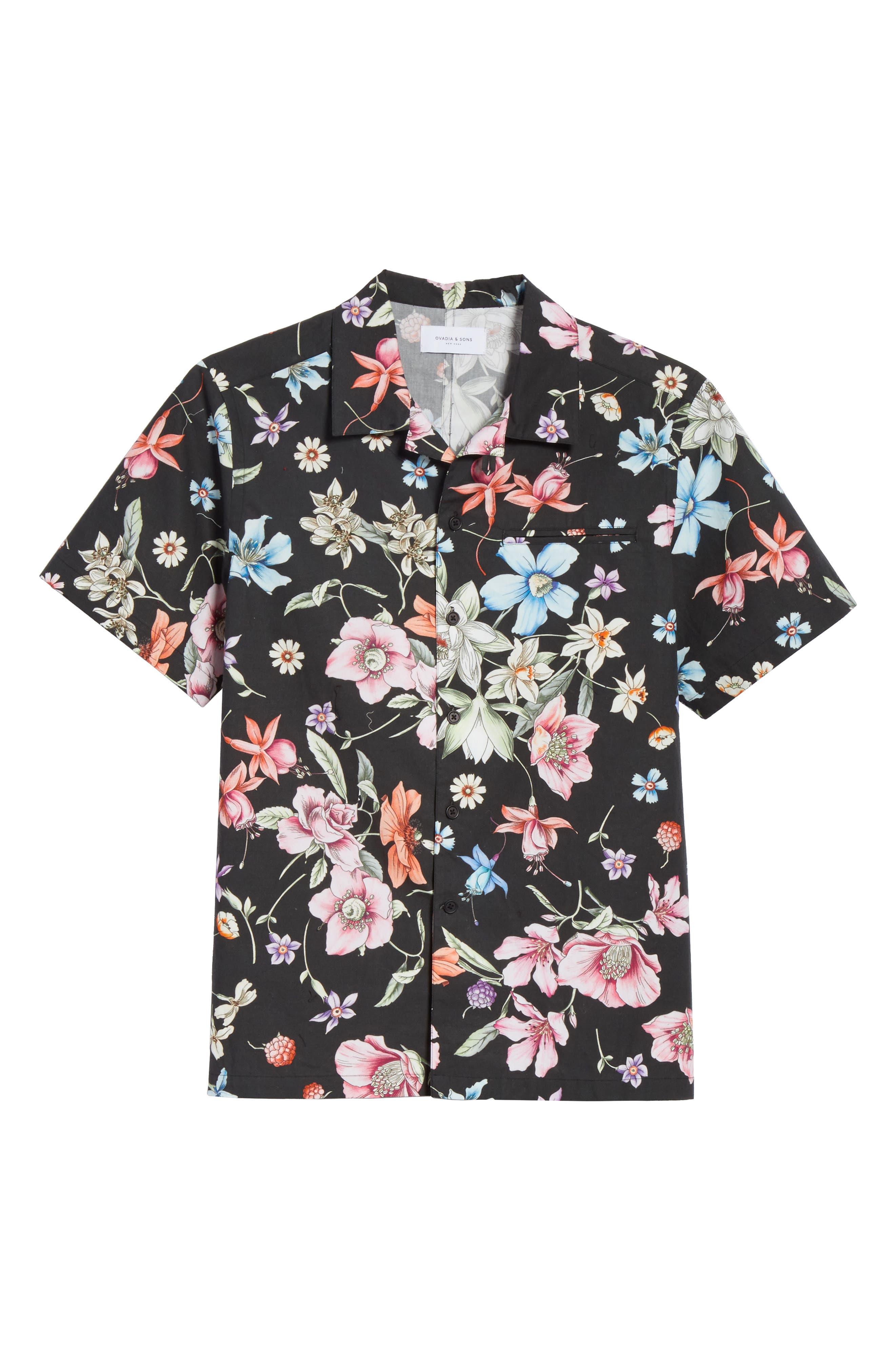 Beach Bouquet Print Shirt,                             Alternate thumbnail 6, color,                             009