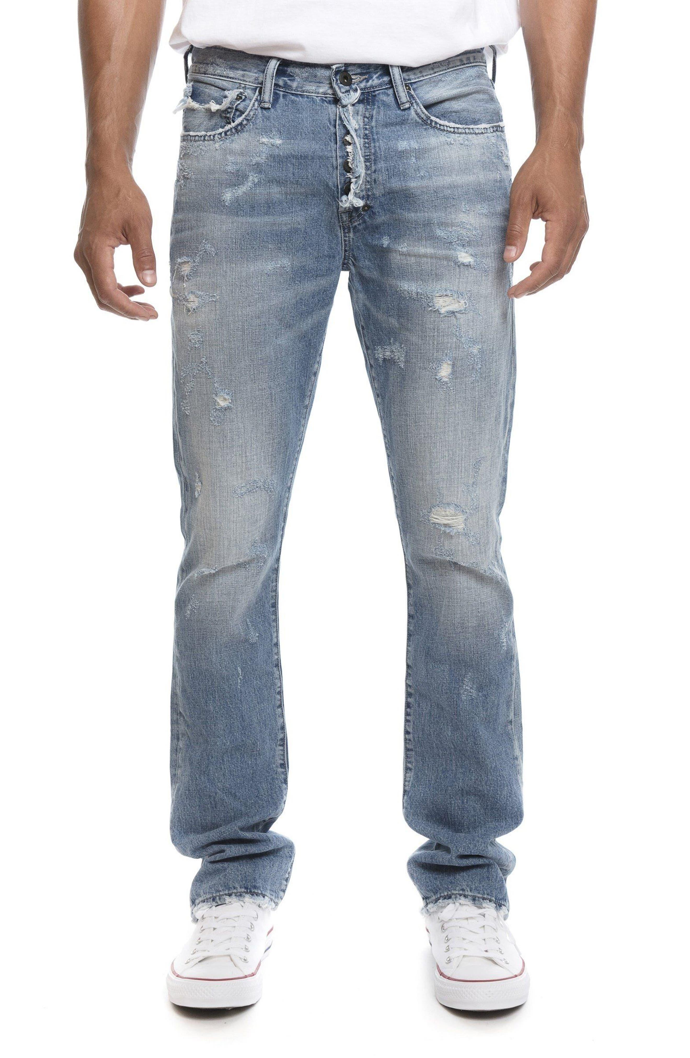 Demon Slim Straight Leg Jeans,                             Main thumbnail 1, color,                             454
