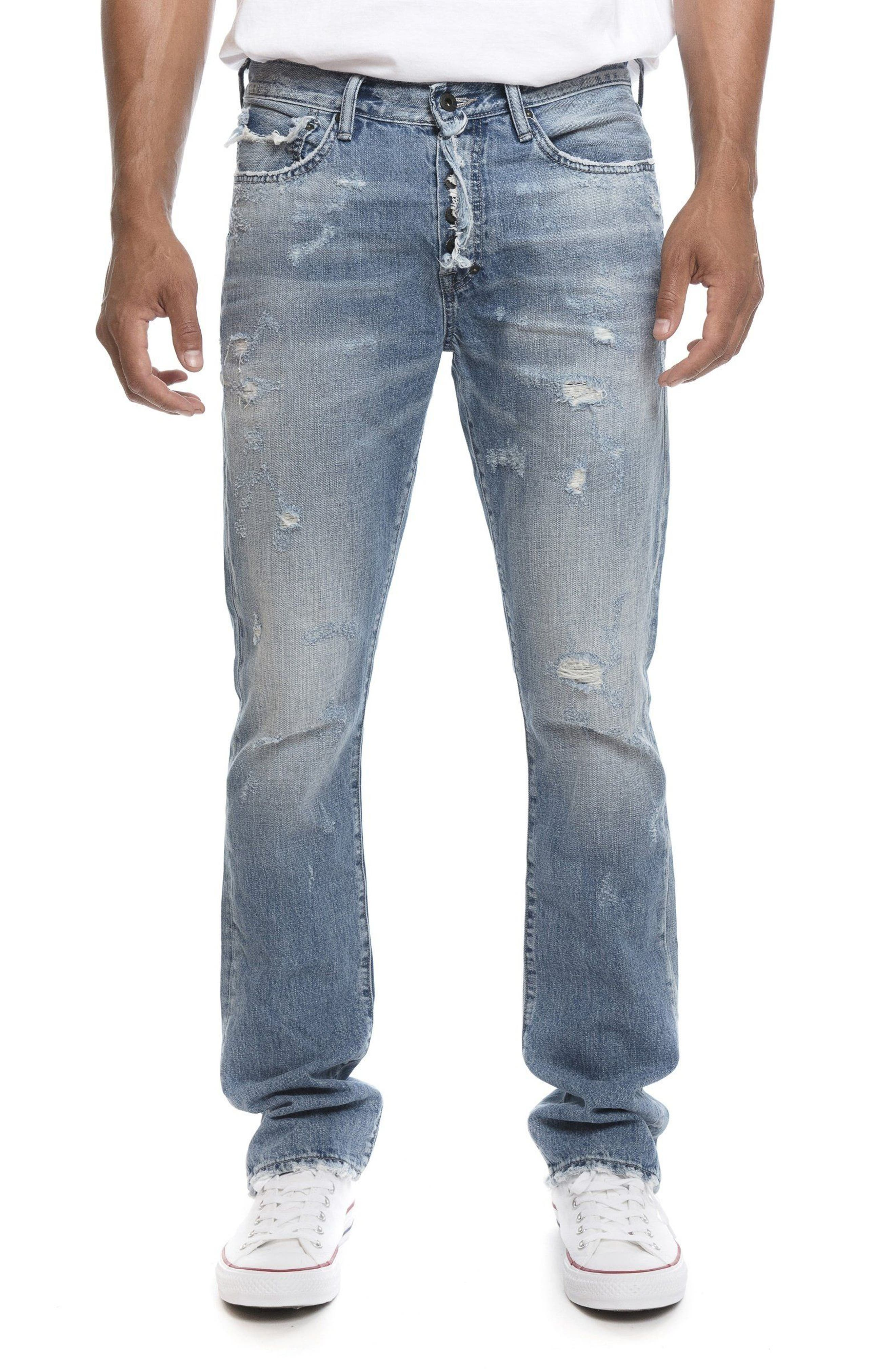 Demon Slim Straight Leg Jeans,                         Main,                         color, 454