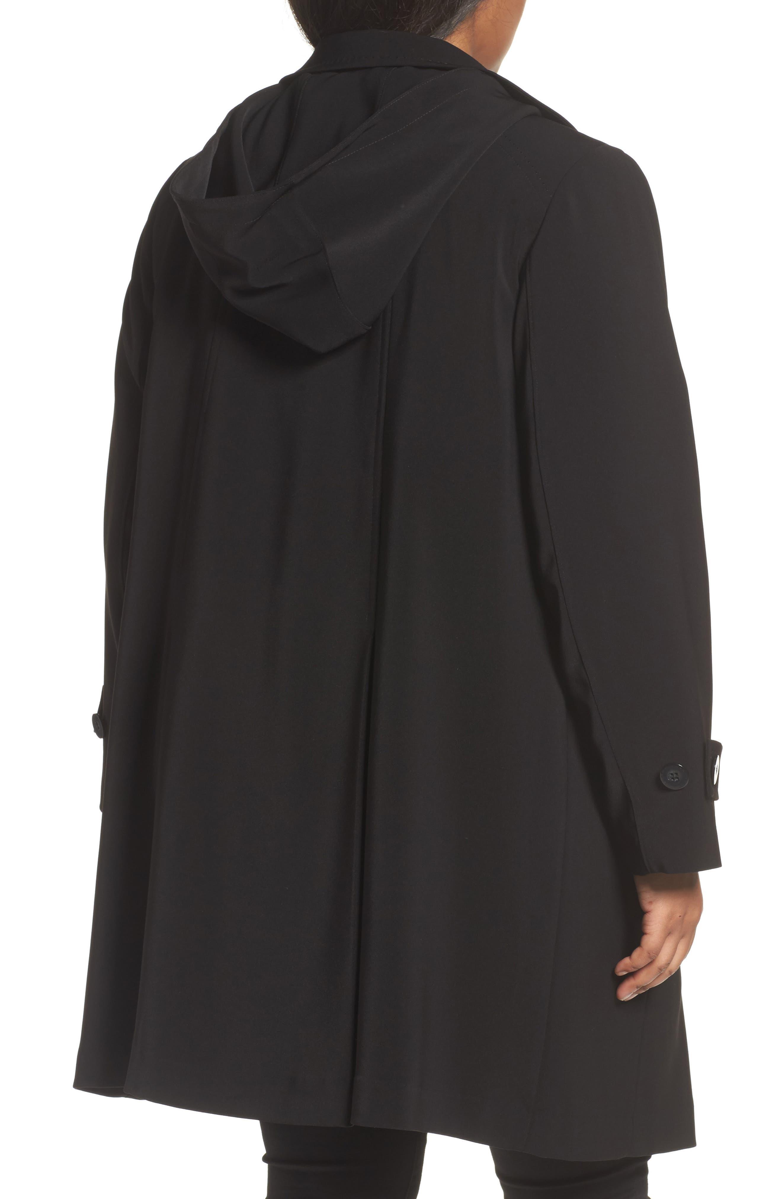 A-Line Raincoat with Detachable Hood & Liner,                             Alternate thumbnail 2, color,                             001